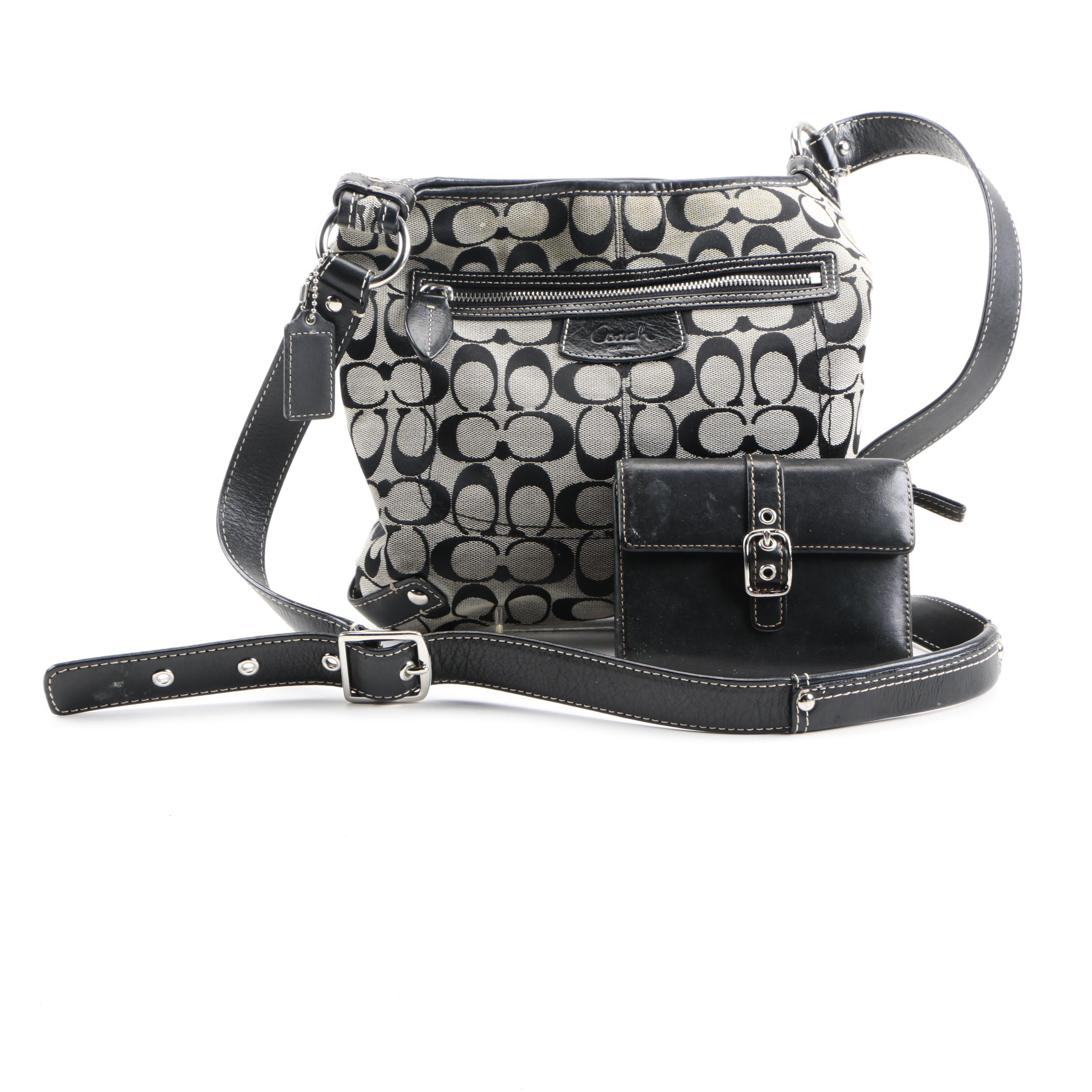 Coach Canvas Crossbody and Leather Wallet