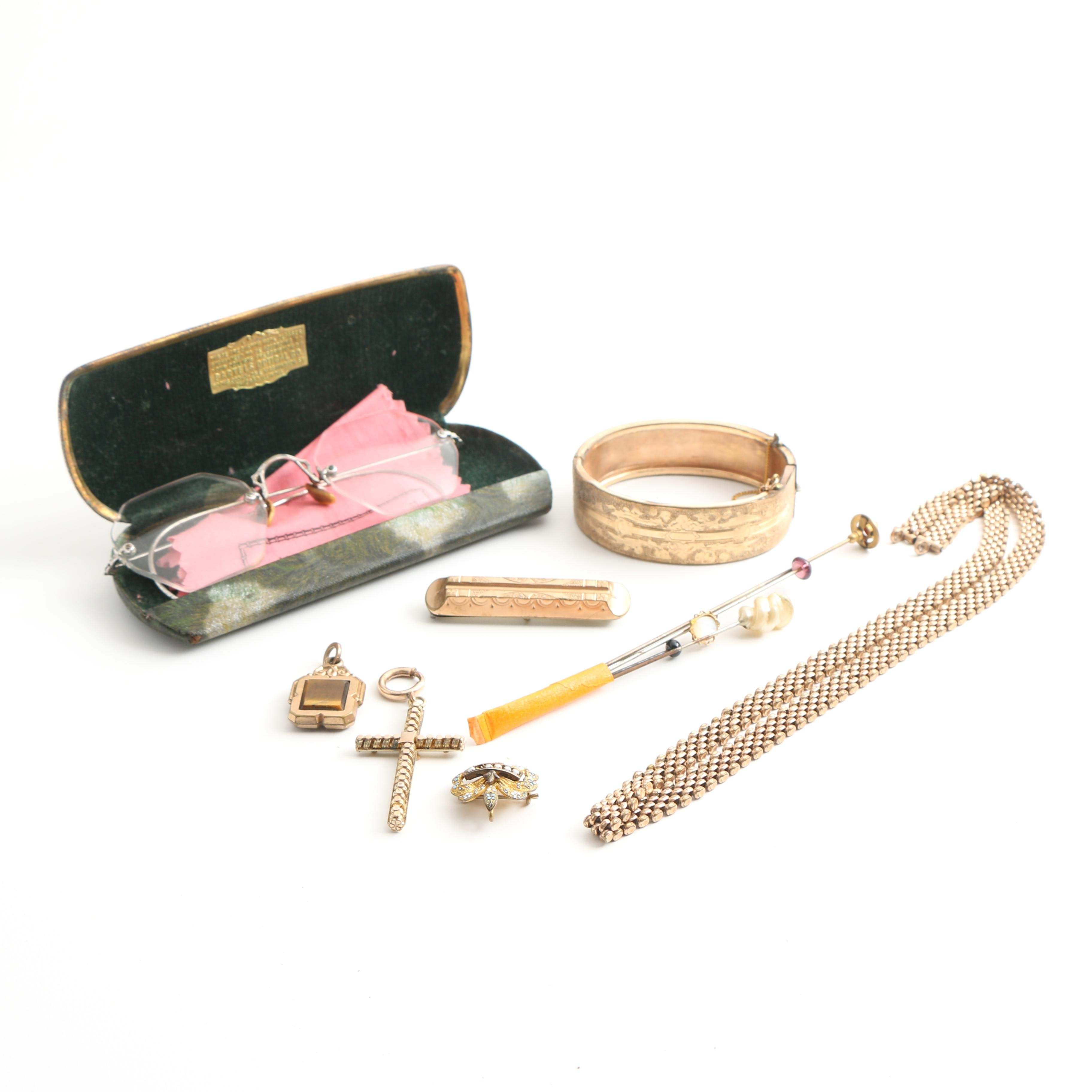 Assortment of Vintage Costume Jewelry and Accessories