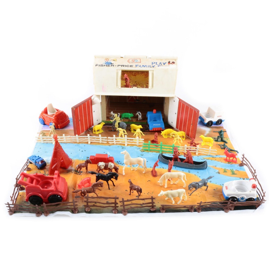 1970s Fisher Price Family Play Farm And More Ebth