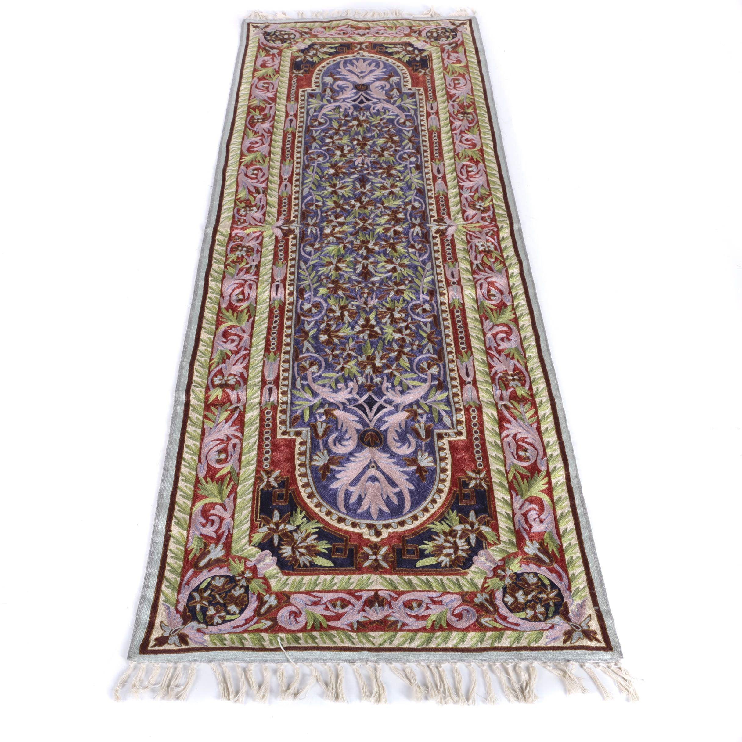 Hand-Creweled Carpet Runner