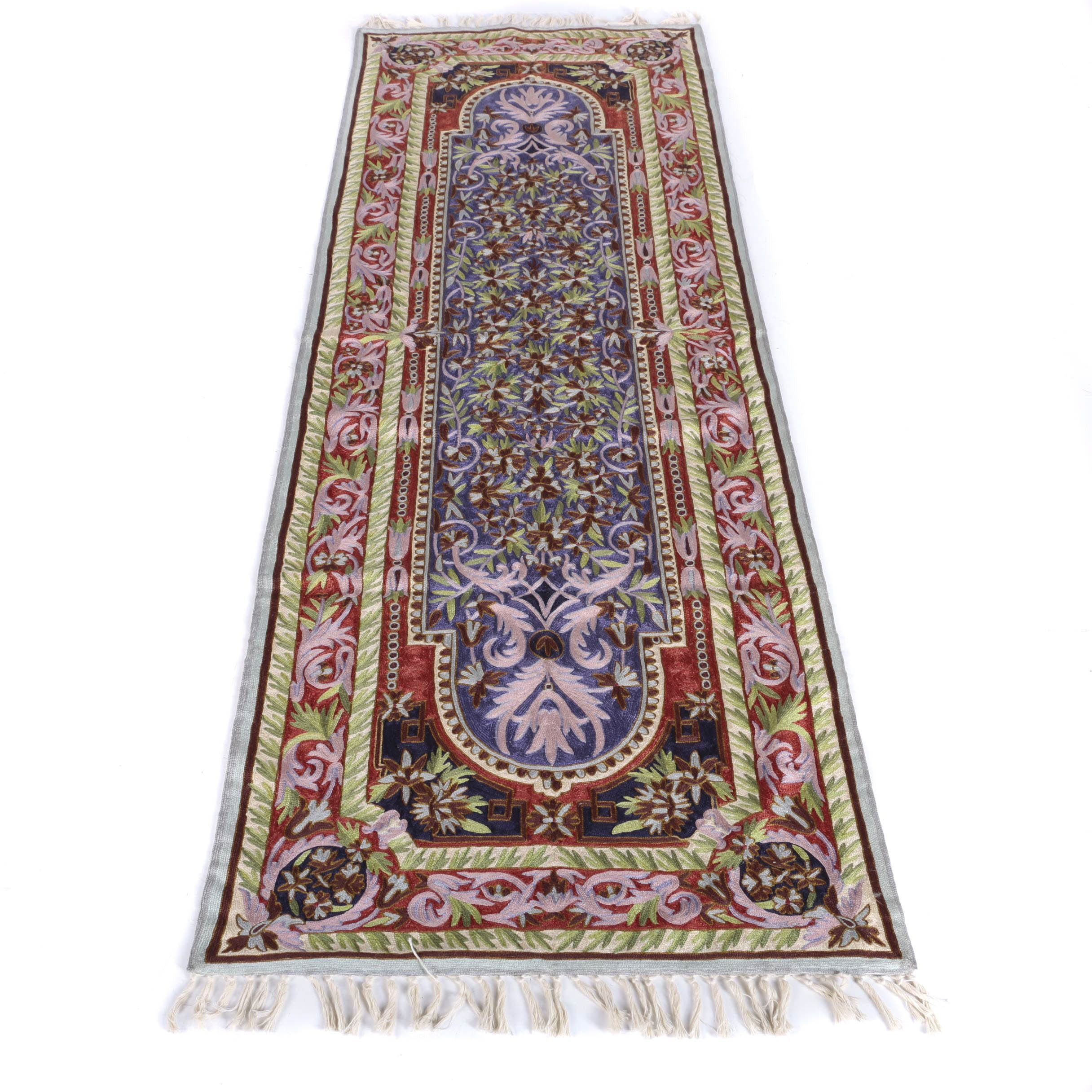 Hand-Creweled Carpet Runner