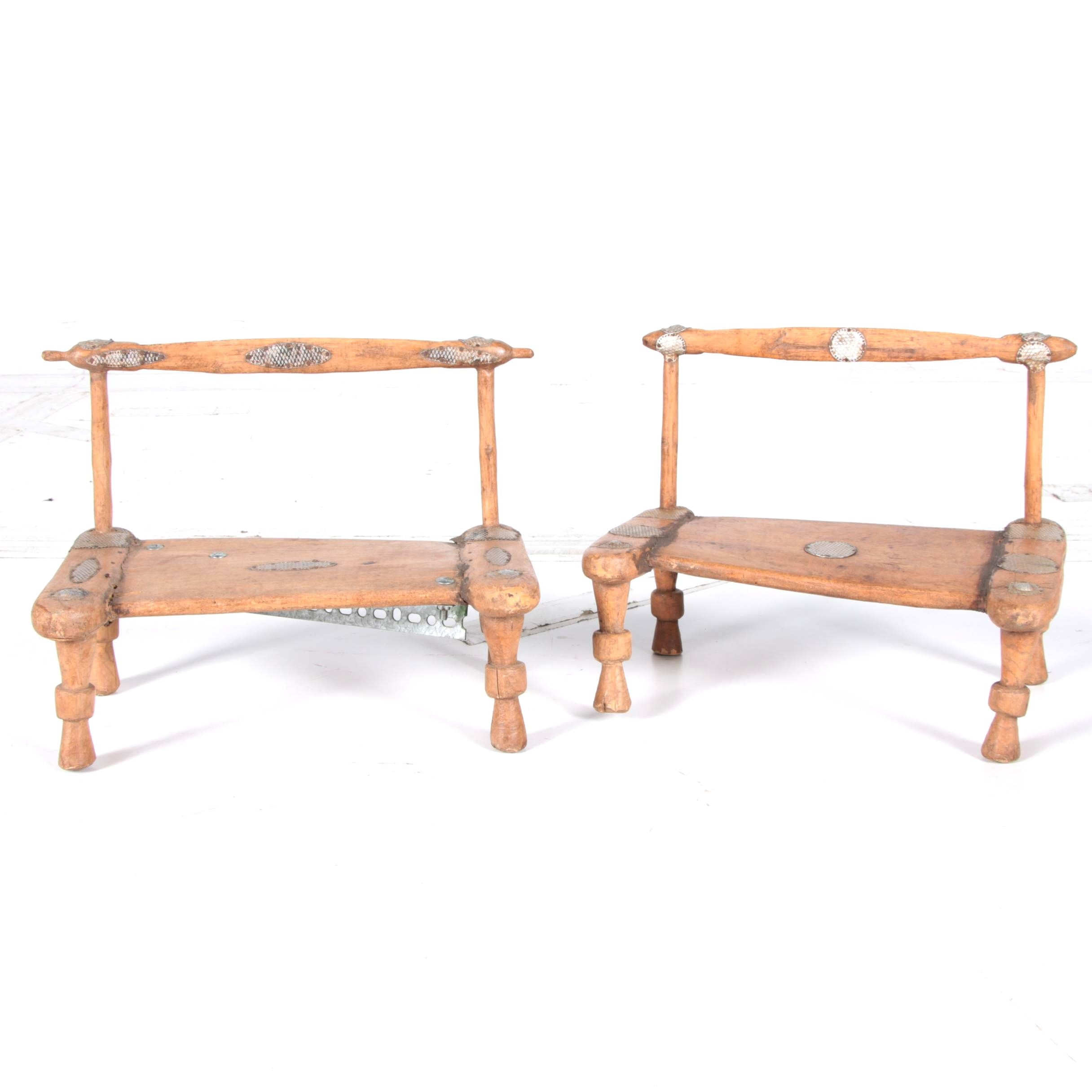 Pair of West African Chairs
