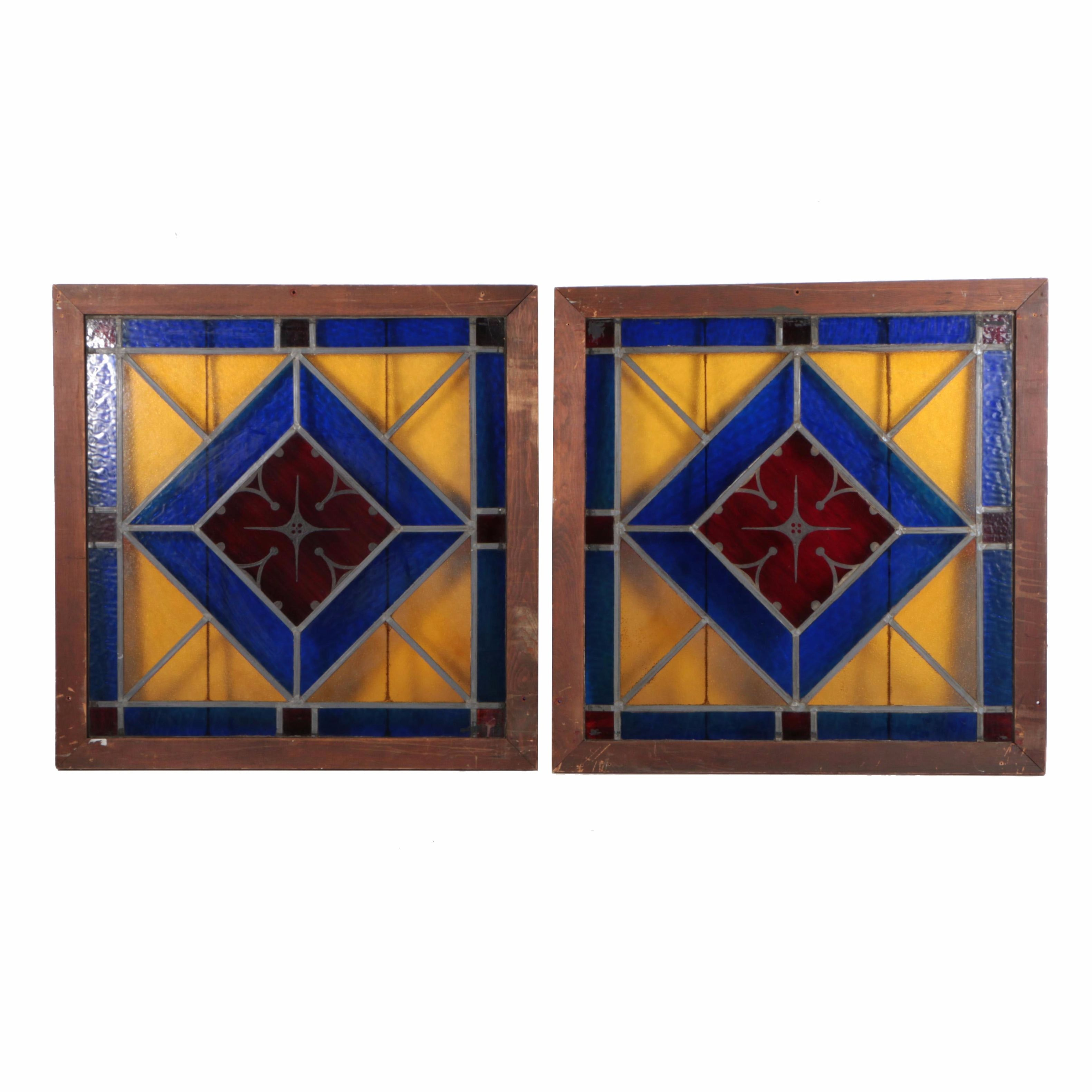 Stained Glass in Wooden Frames