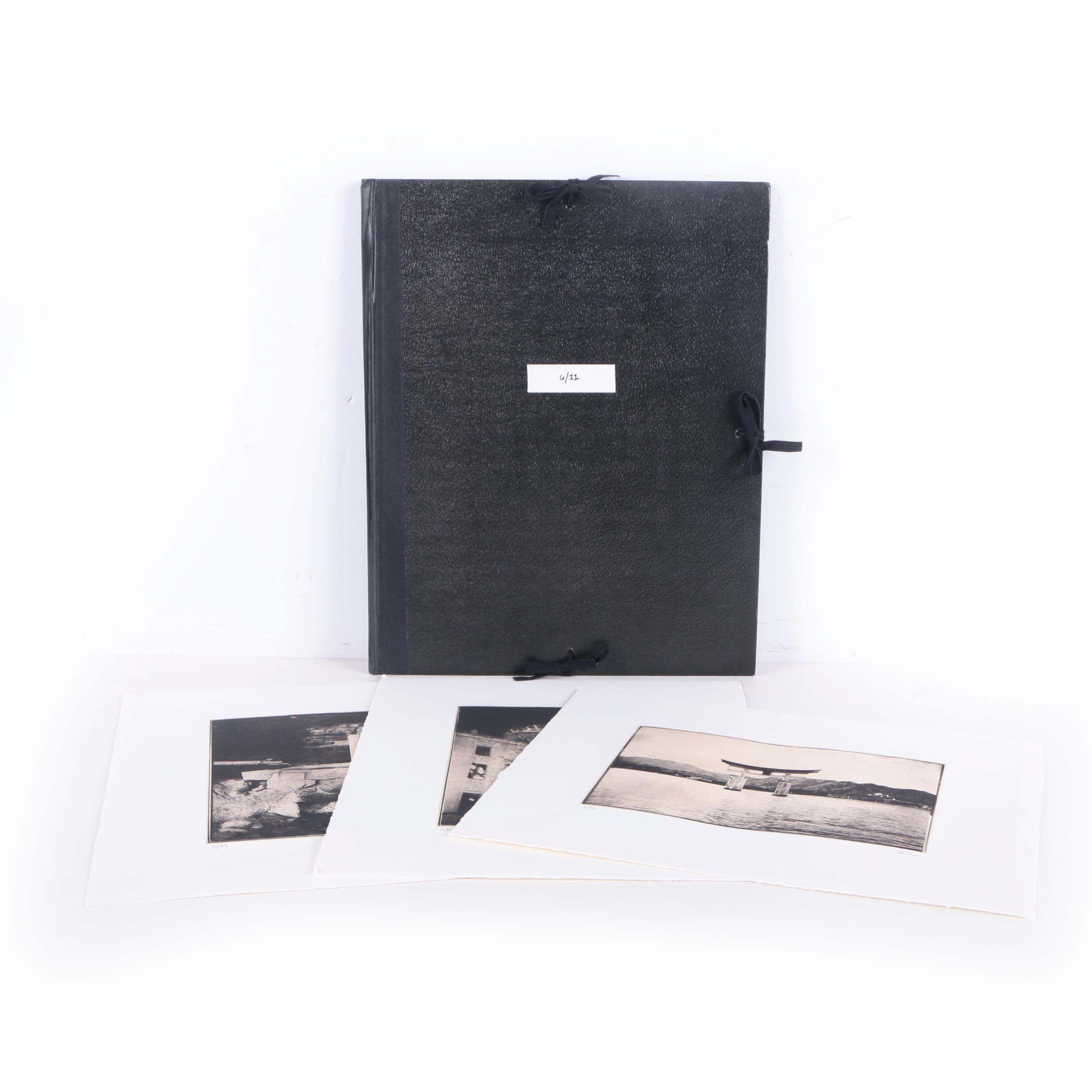Portfolio of Rotogravure Prints Featuring Scenes From East Asia