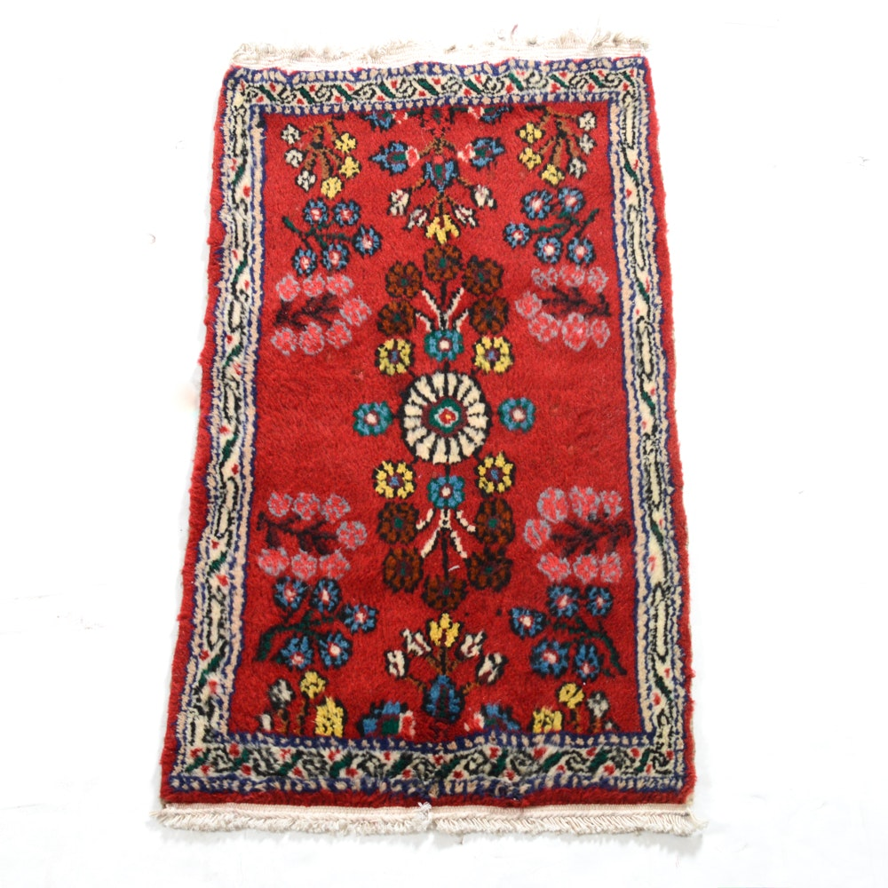 Hand-Knotted Persian Hamadan Rug