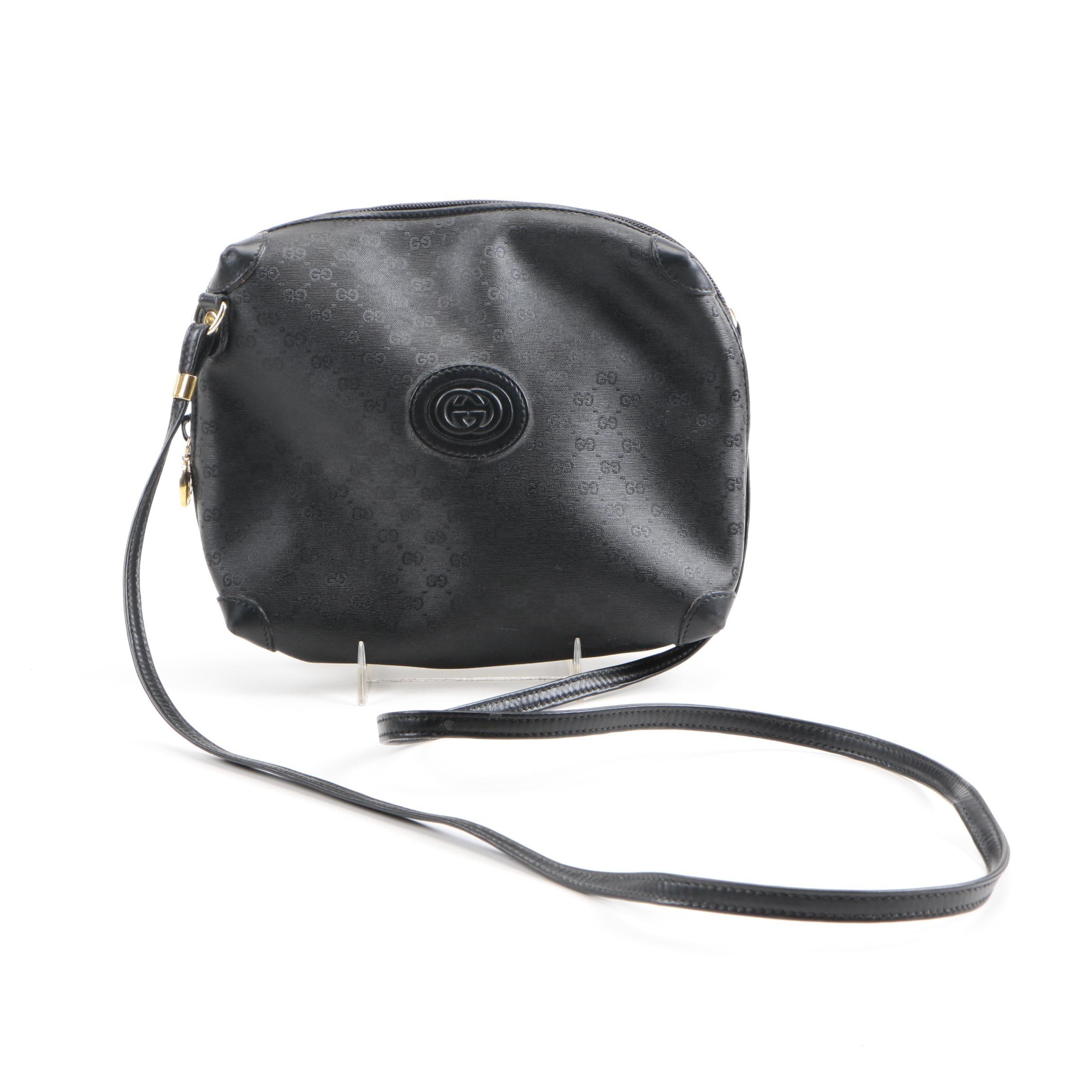 Gucci Black Supreme Canvas Crossbody Bag