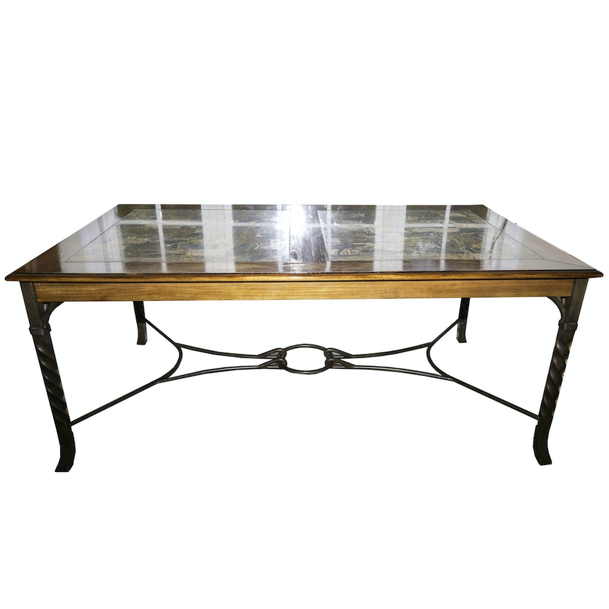 Contemporary Stone Inlay Dining Table