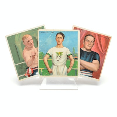 Three Early 1900s Sports Tobacco Cards