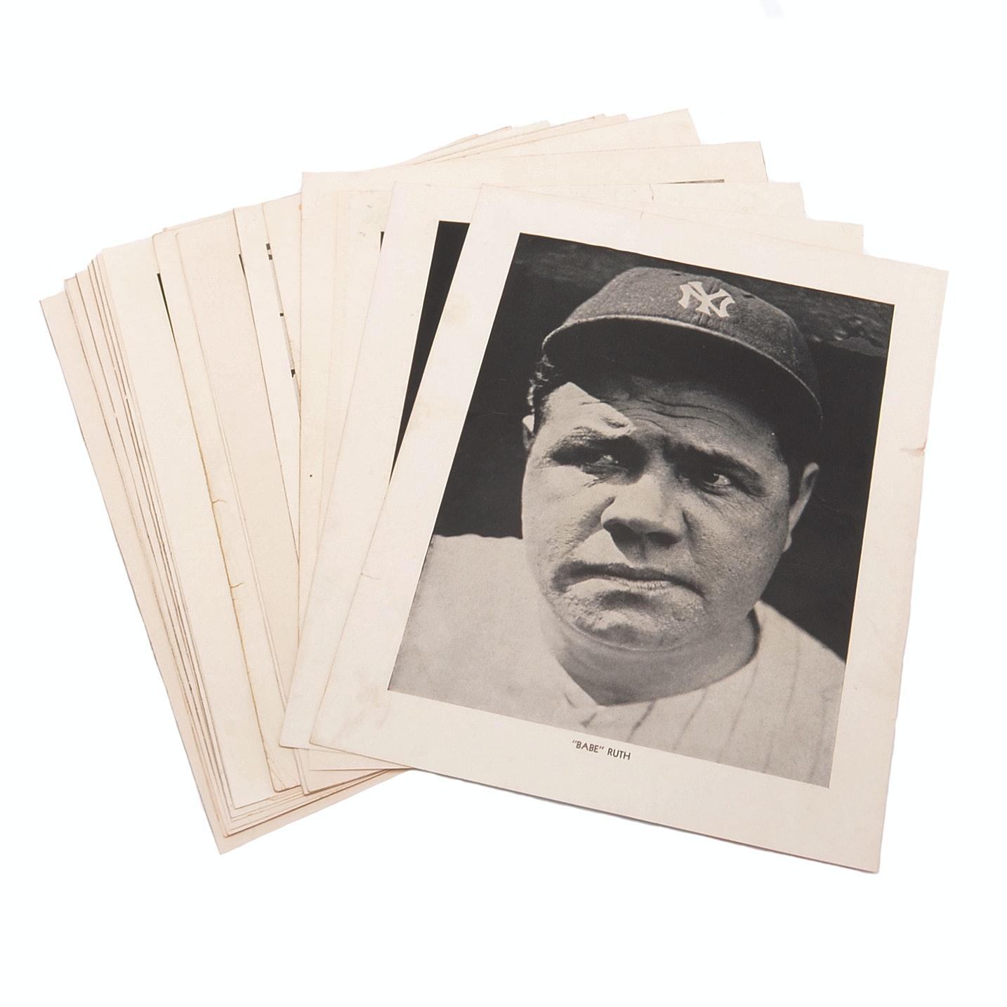 "Twenty-Two 1930s-1940s ""Baseball Magazine"" Baseball Inserts"