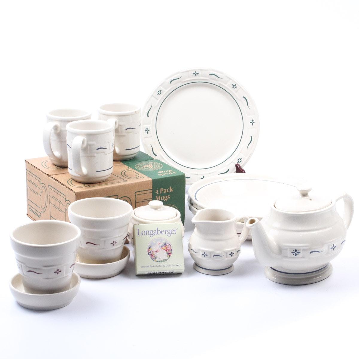 Collection of Longaberger Ceramics