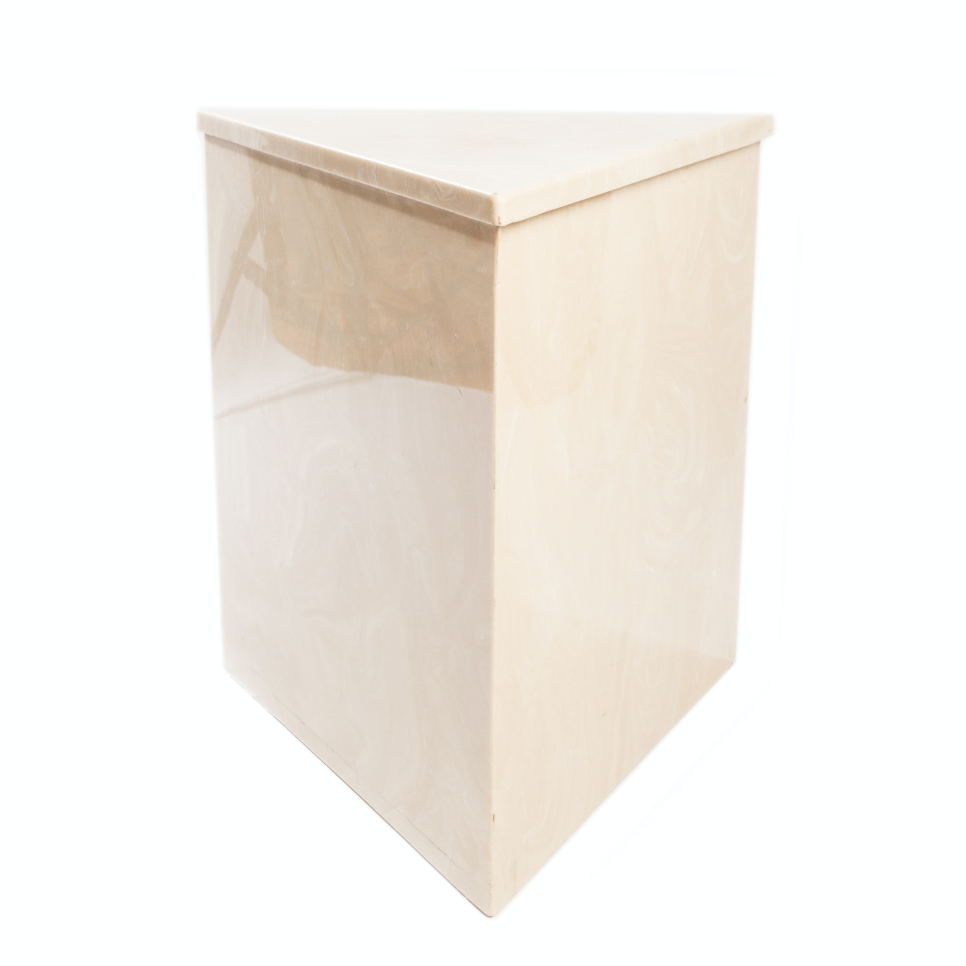 Modern Triangular Marble Accent Table