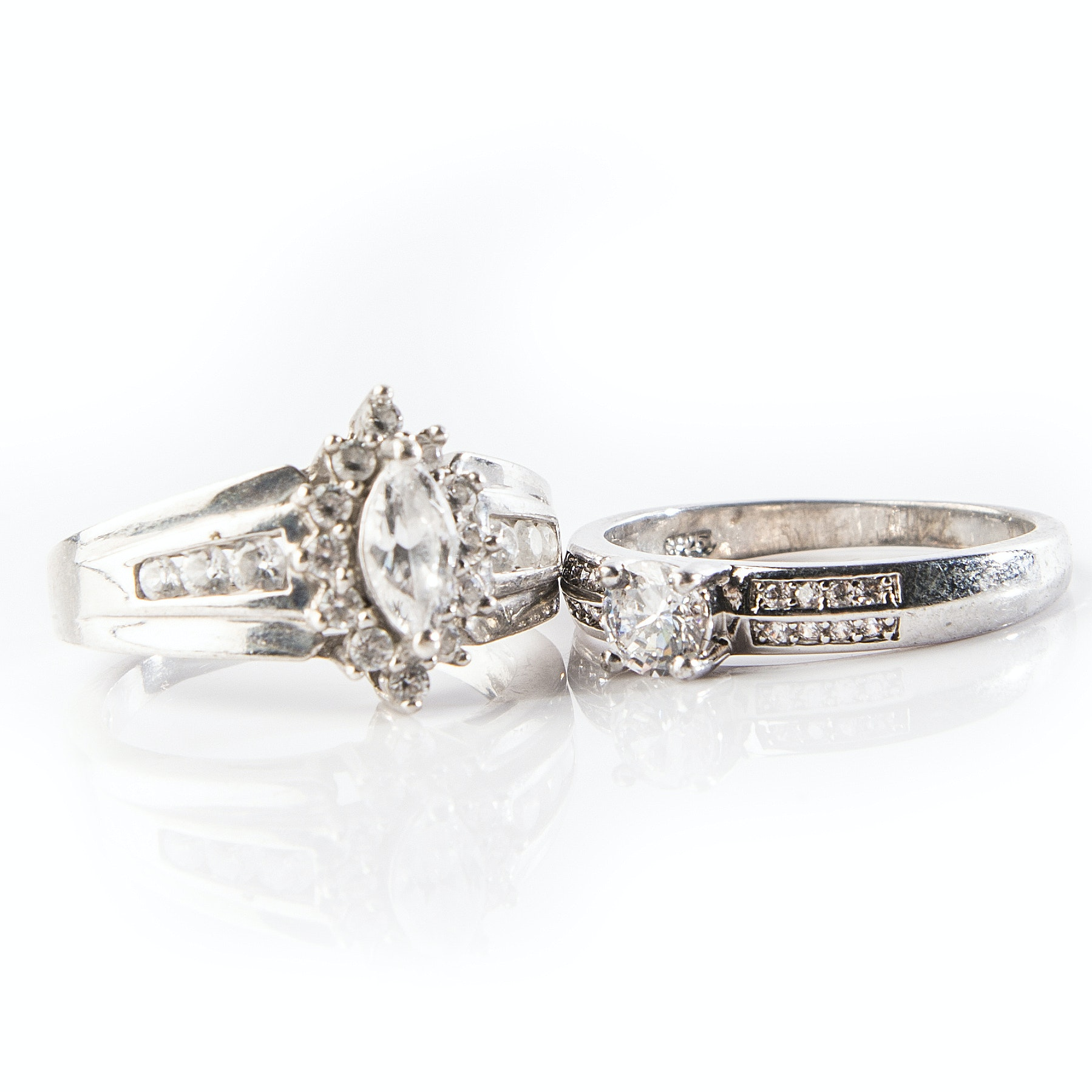 Sterling Silver and Cubic Zirconia Fashion Rings