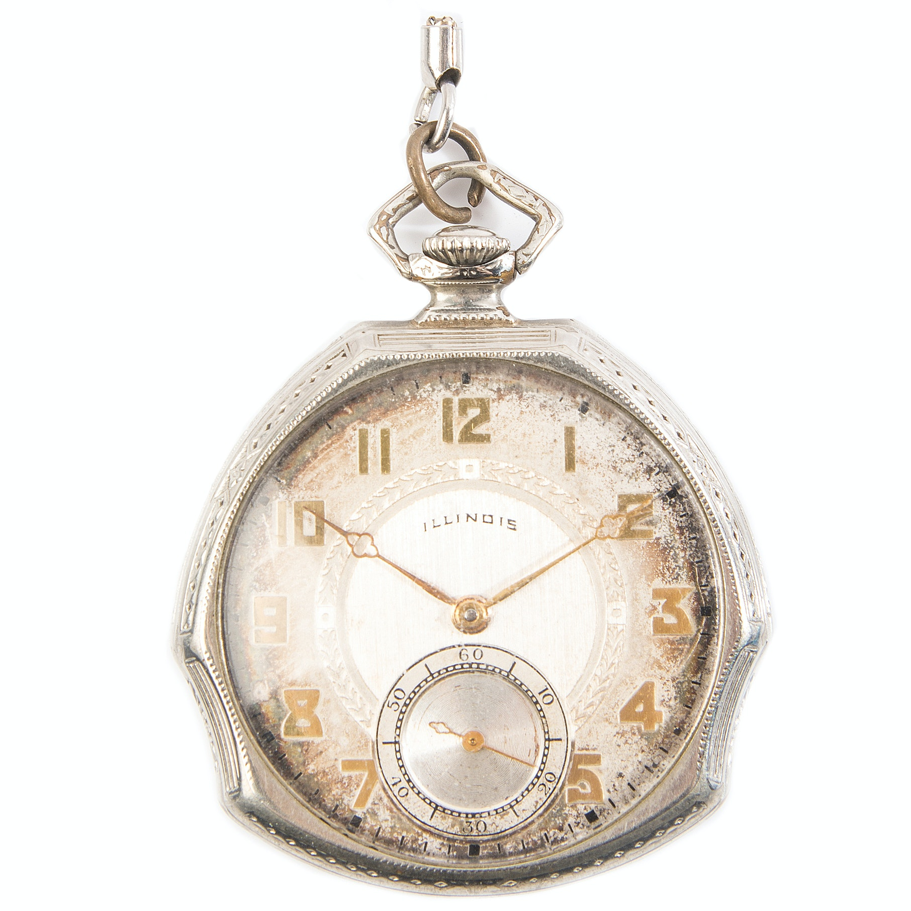 Vintage Illinois Gold-Filled Pocket Watch