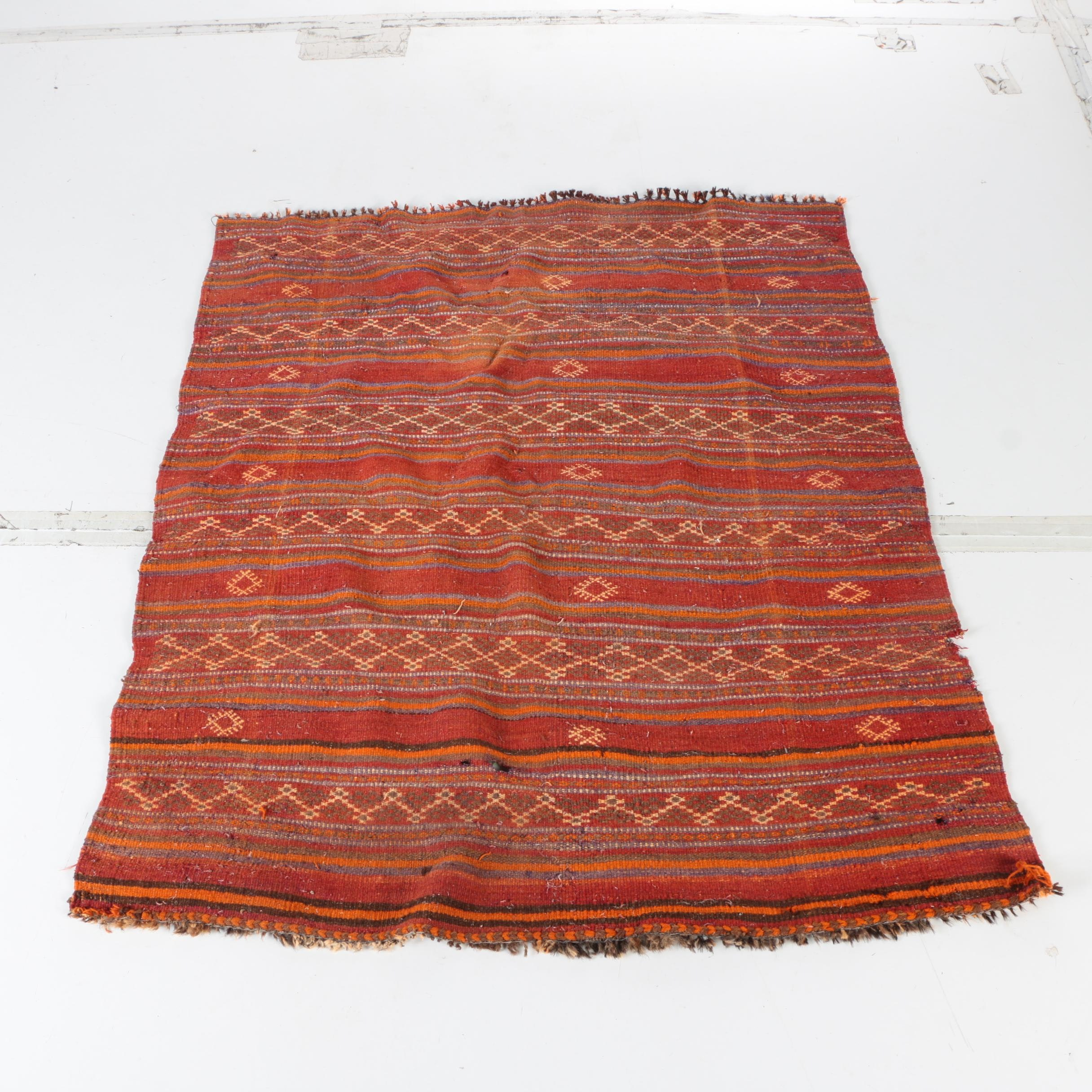 Handwoven North African Area Rug