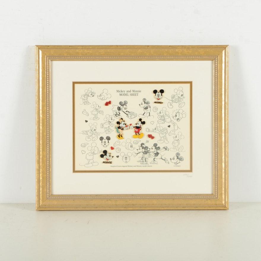 Walt Disney Limited Edition Print and Pin Set \