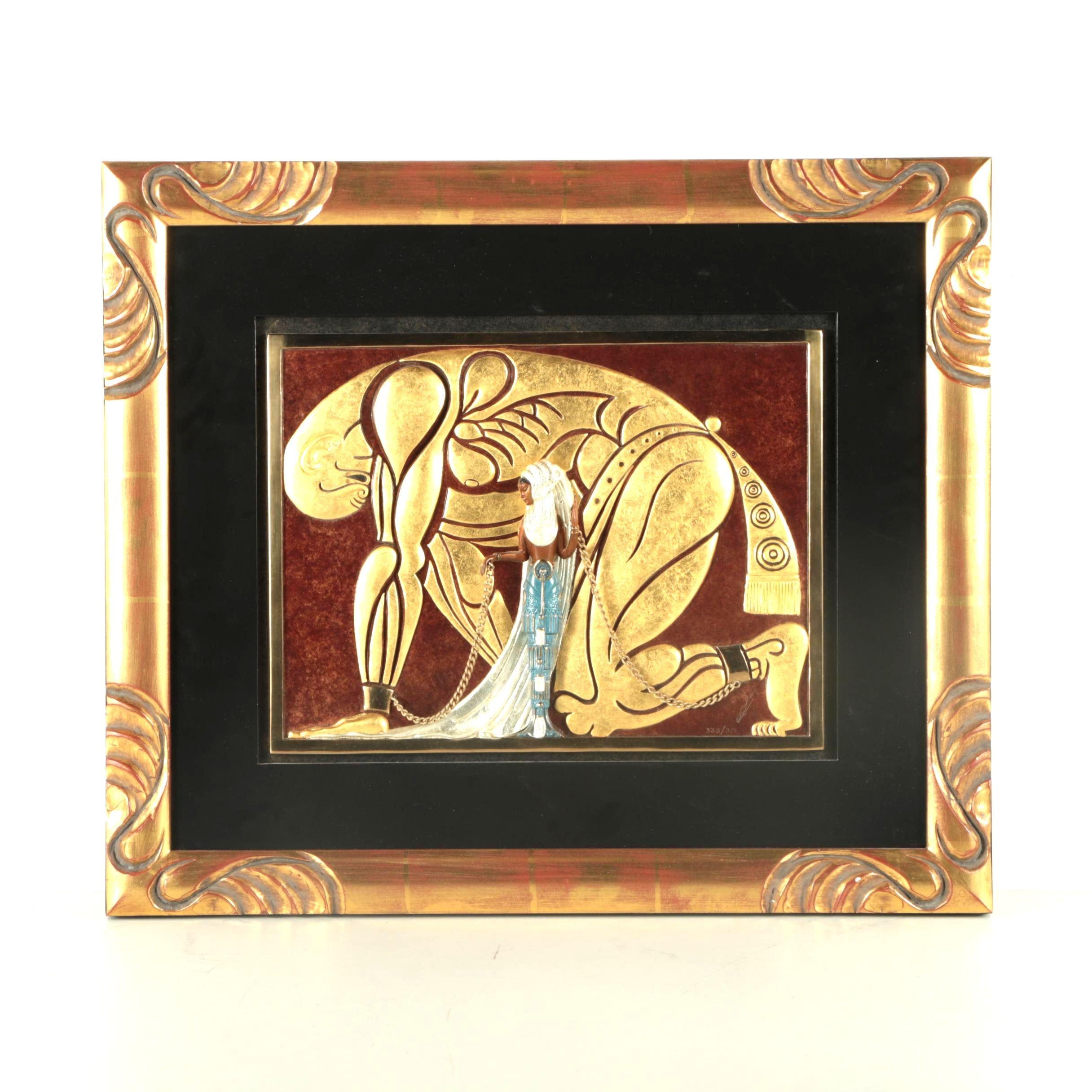"Erté Limited Edition Bronze Sculpture ""Samson and Delilah"""