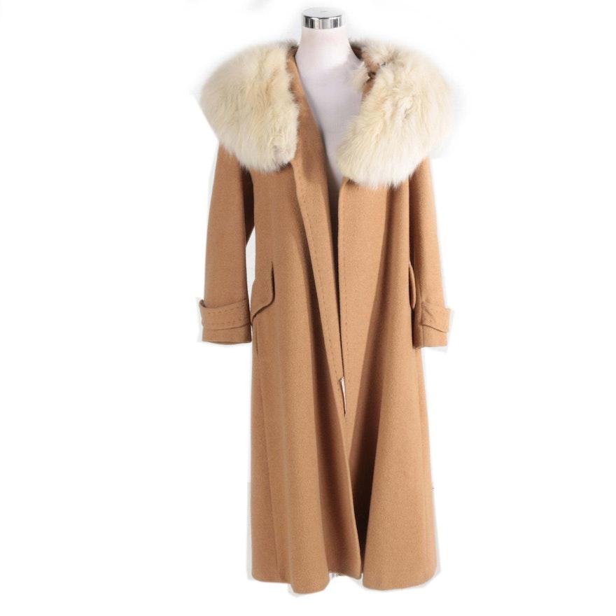 3e48058f9ce6 Women s Vintage Camel Hair and Fox Fur Coat   EBTH