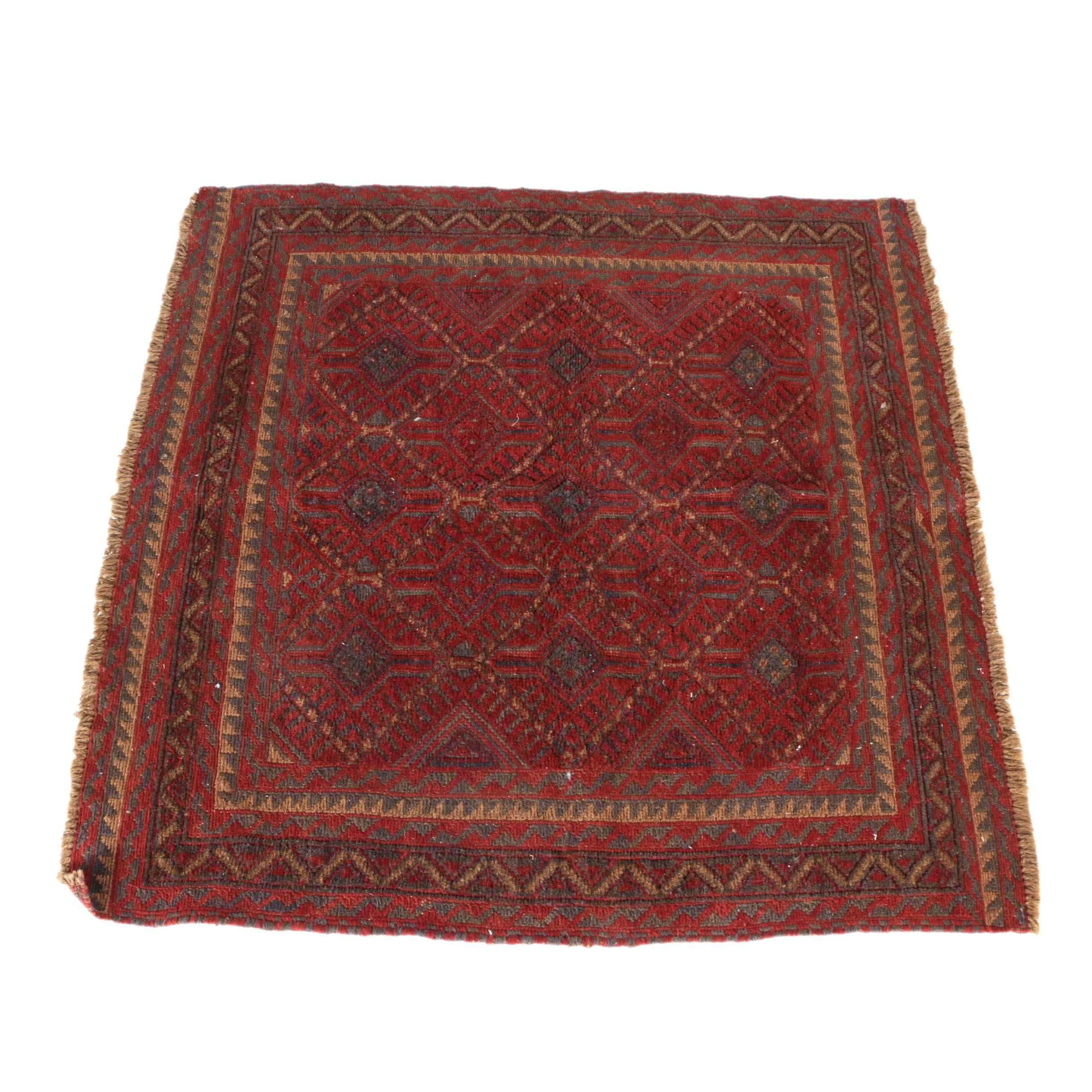 Handwoven Baluch Square Area Rug