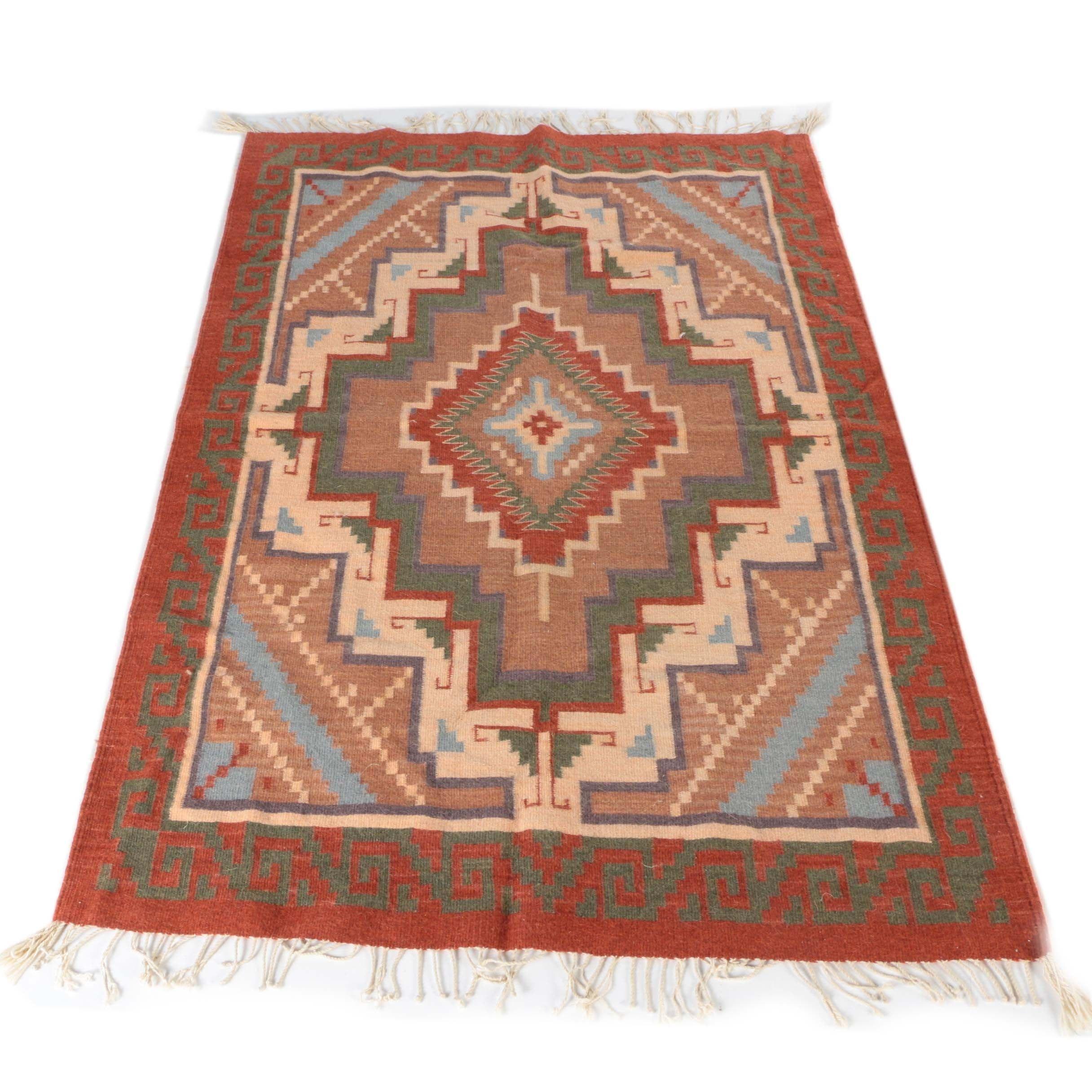 Flatweave Handwoven Kilim Wool Area Rug