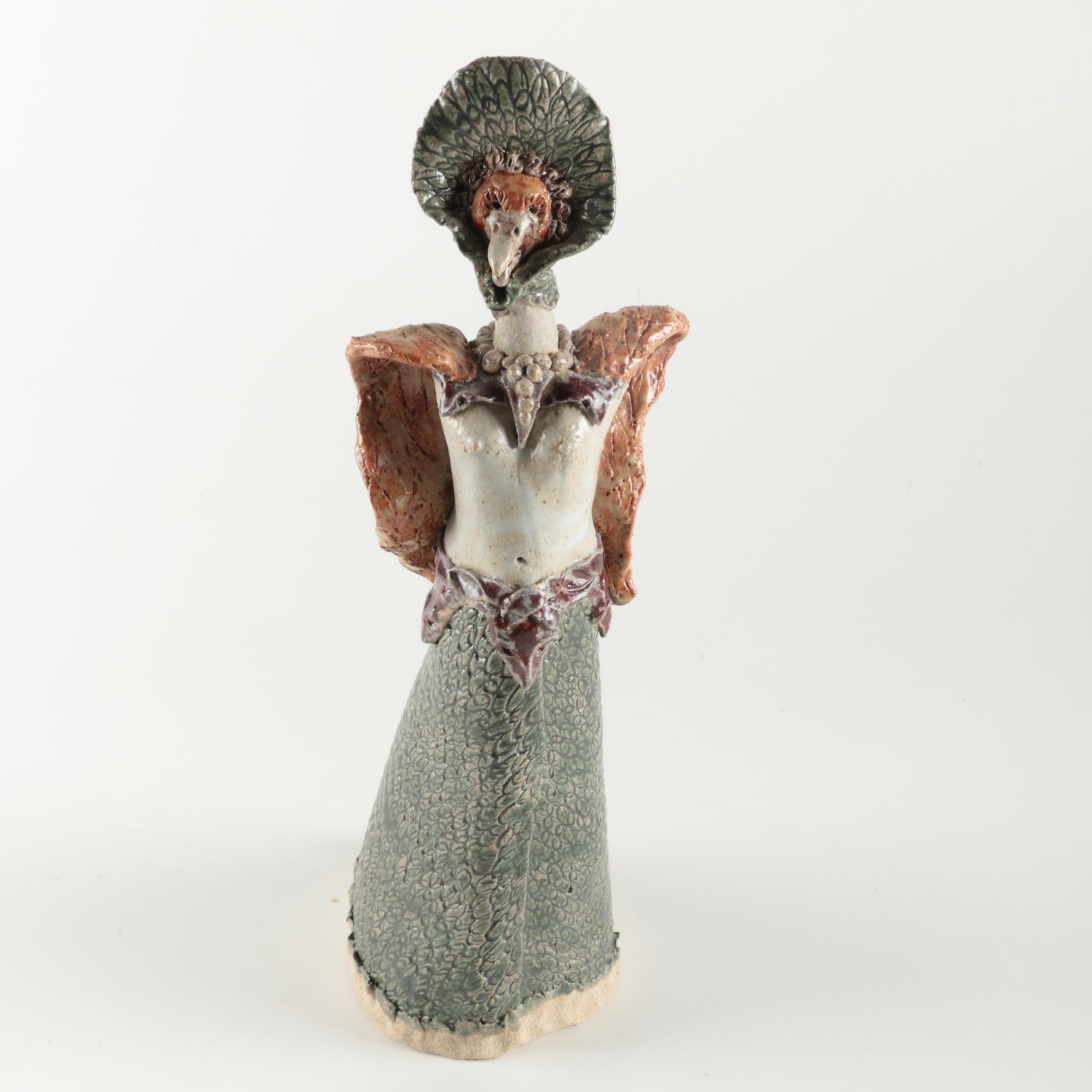 Anthrapomorphic Ceramic Bird Figure