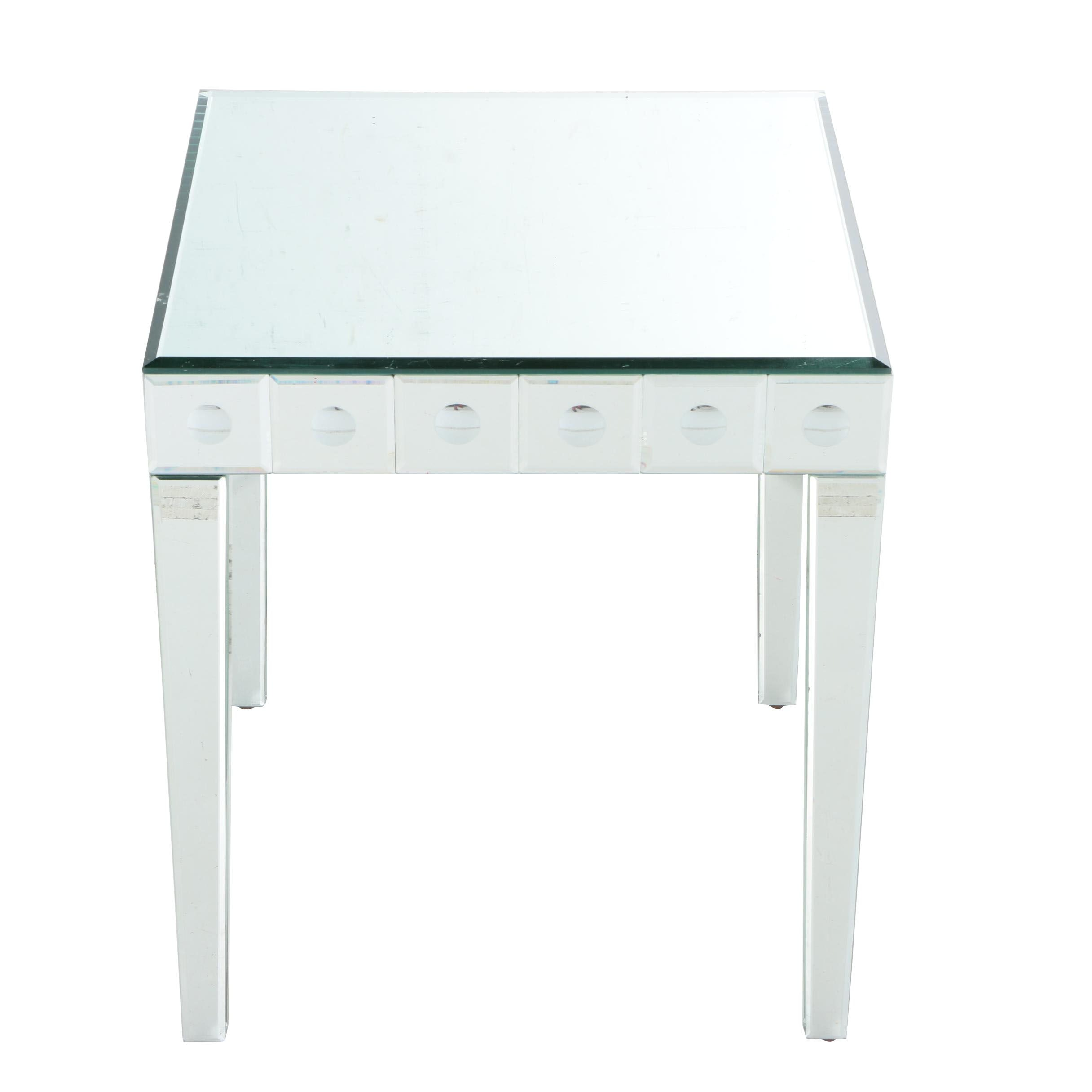 Hollywood Regency Style Mirrored Accent Table
