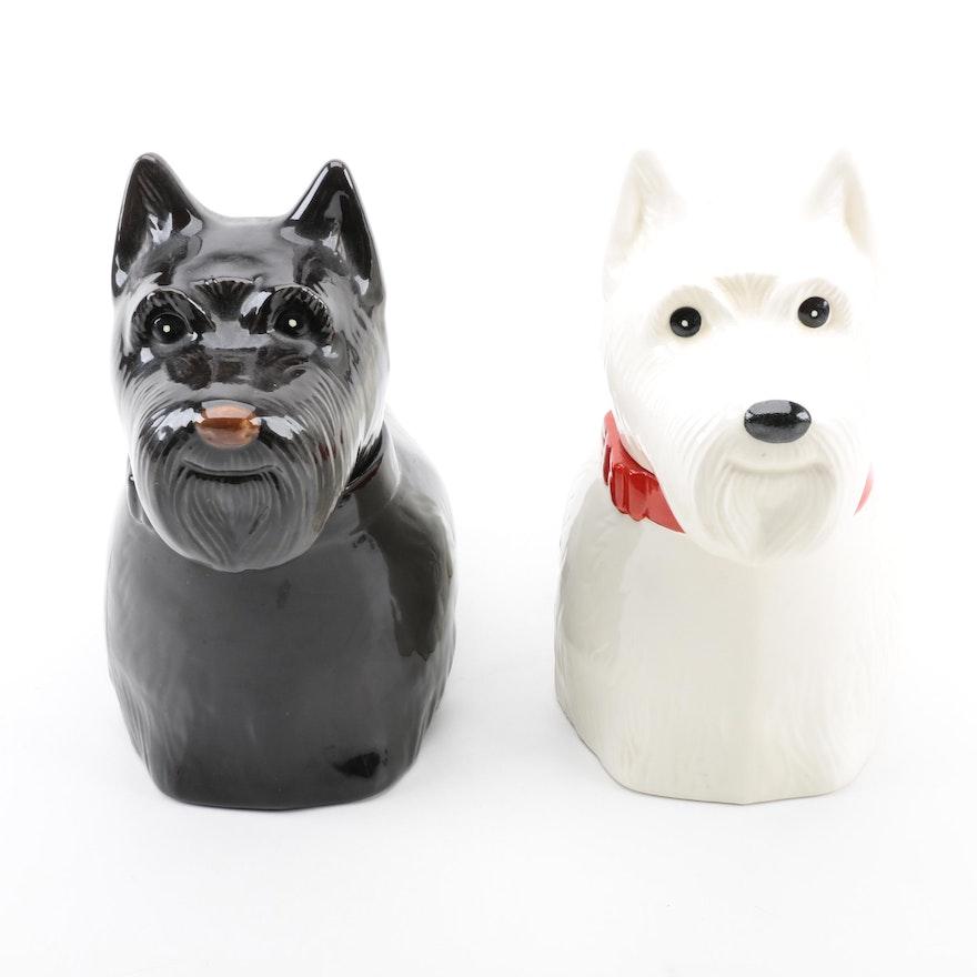 All White Scottie Dog Cookie Jar