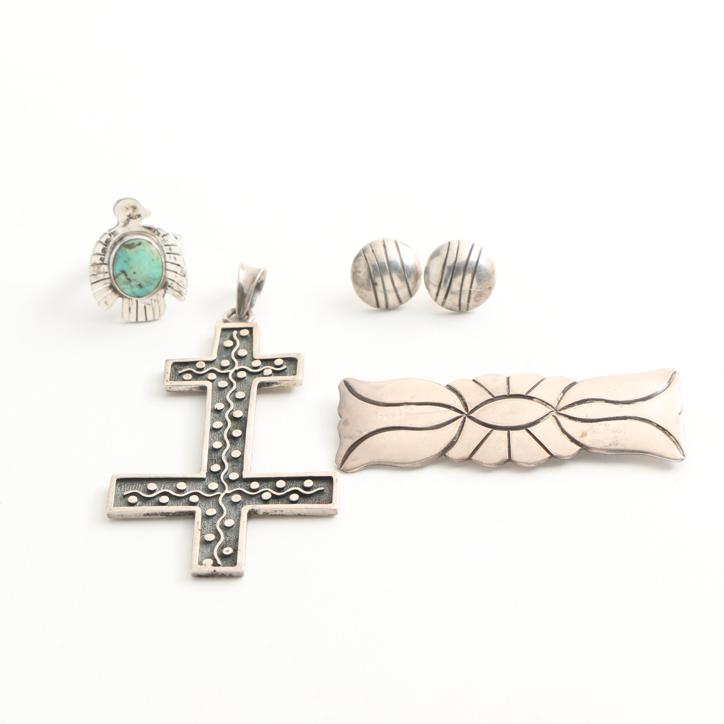 Sterling Silver Jewelry Featuring Lincoln Robert Navajo and Turquoise