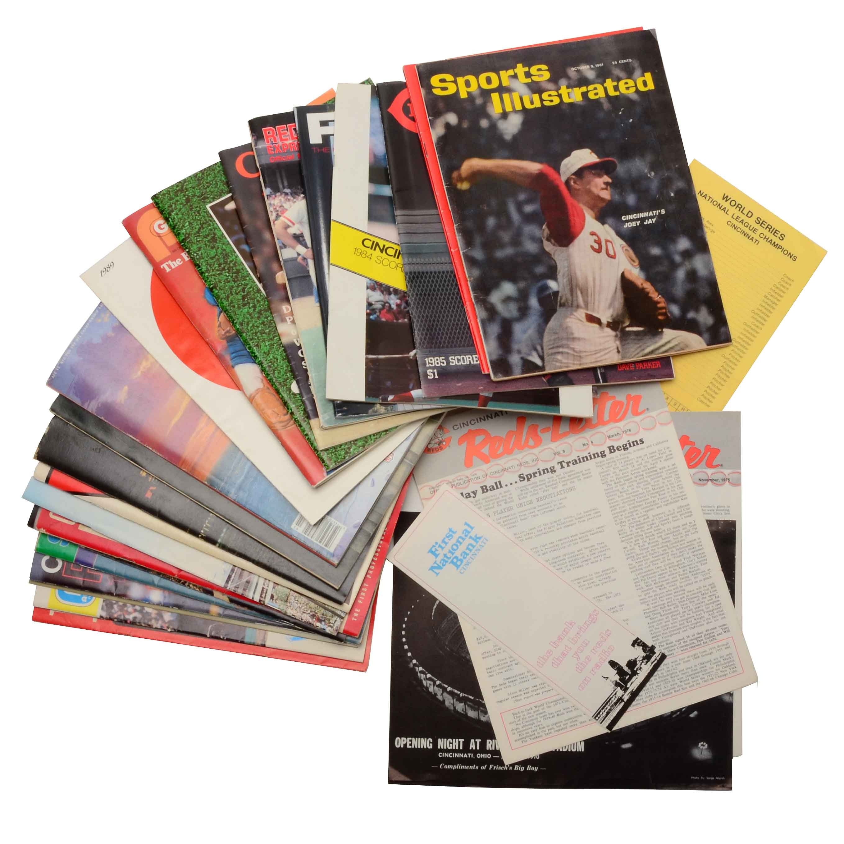 Massive Collection Reds and Bengals Programs and Paper Colelctibles