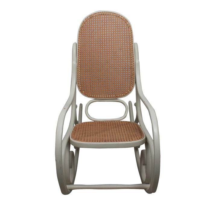 Light Gray Rocking Chair