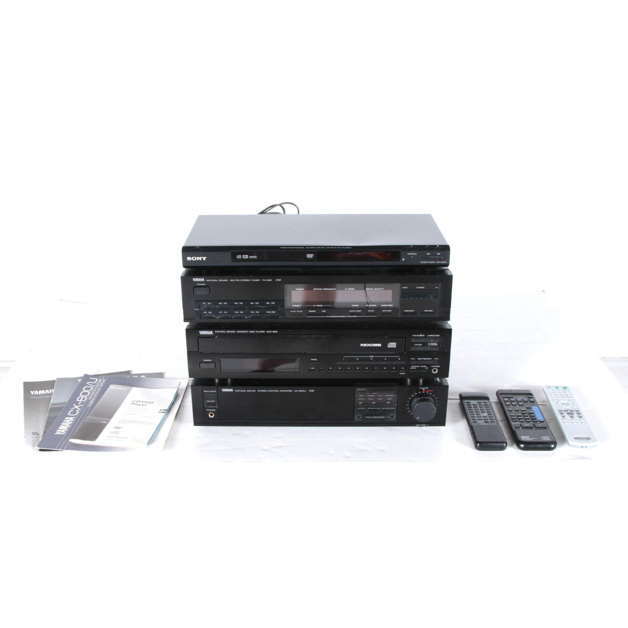 Yamaha and Sony Stereo Units