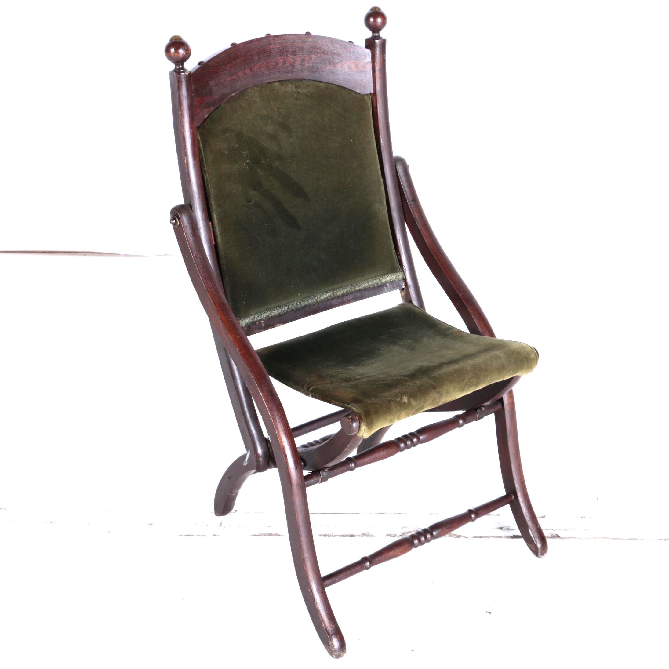 Vintage Victorian Style Folding Chair