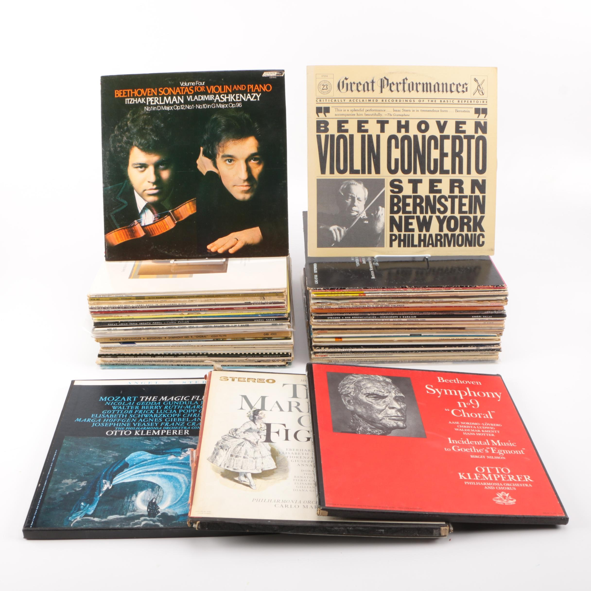 Vintage Collection of Classical Records Including the New York Philharmonic