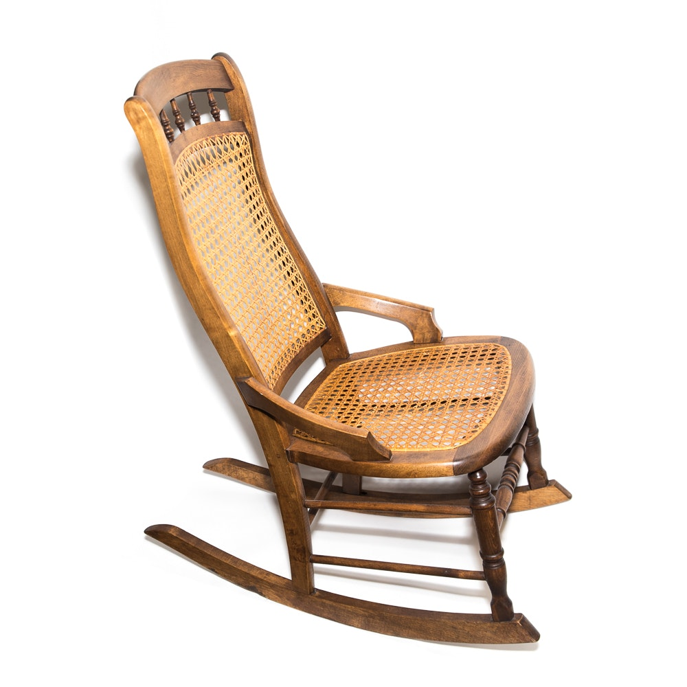 Victorian Style Caned Rocking Chair