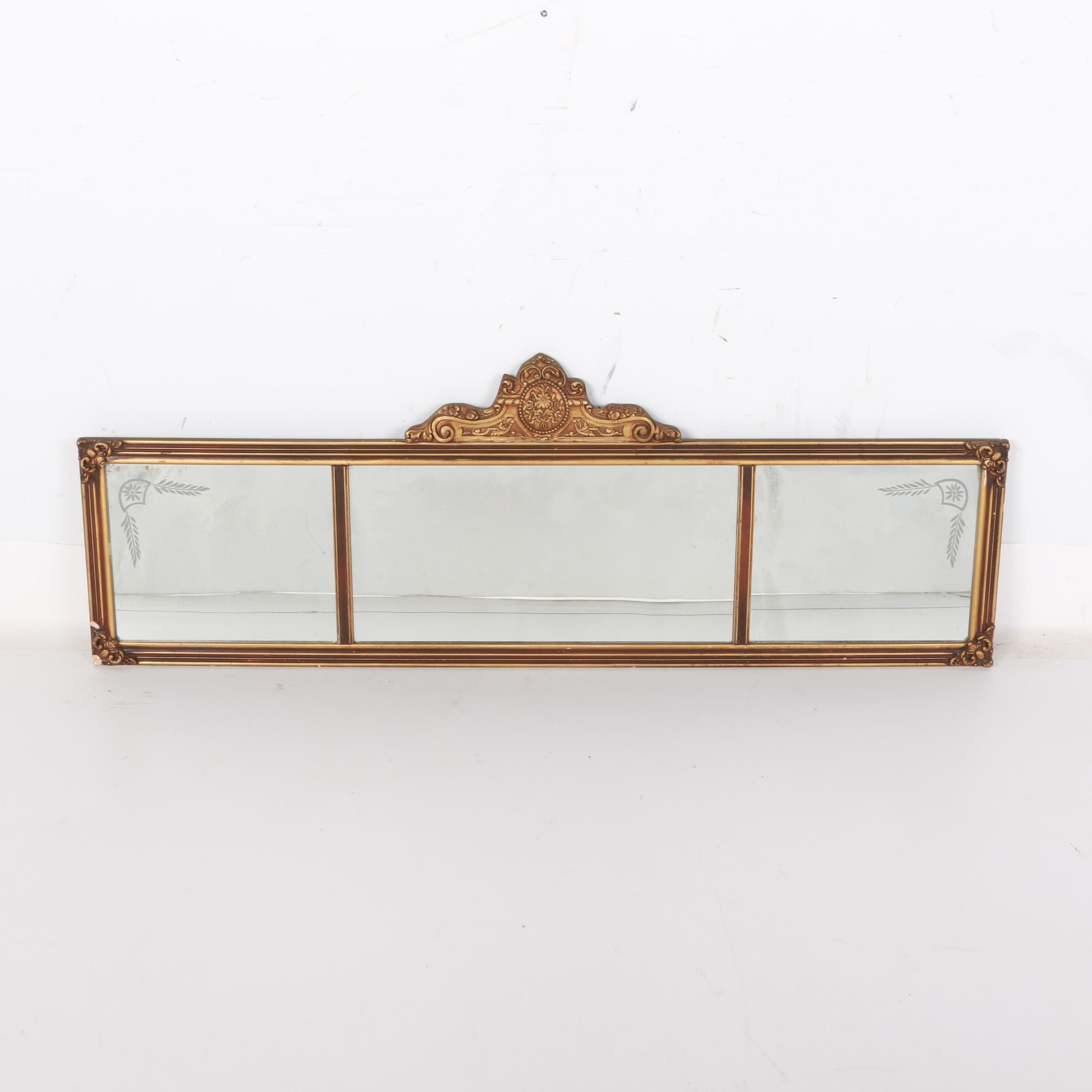 Horizontal Three Panel Wall Mirror