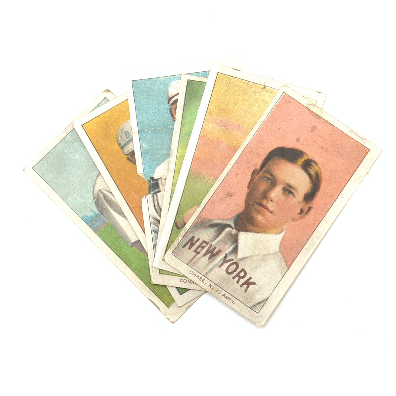 """Six Antique 1900s """"Sweet Caporal"""" Tobacco Baseball Cards"""