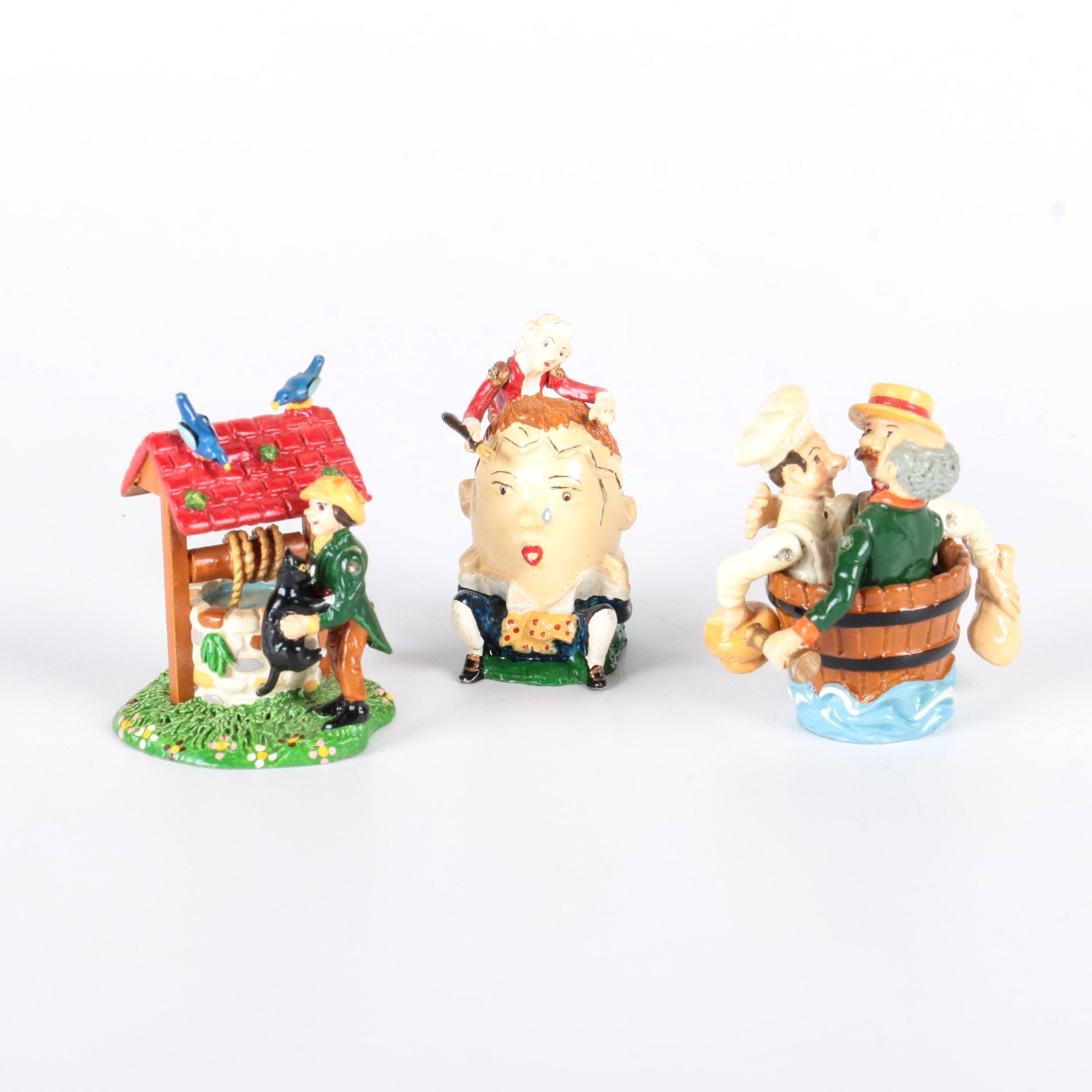 Metal Nursery Rhyme Figurines