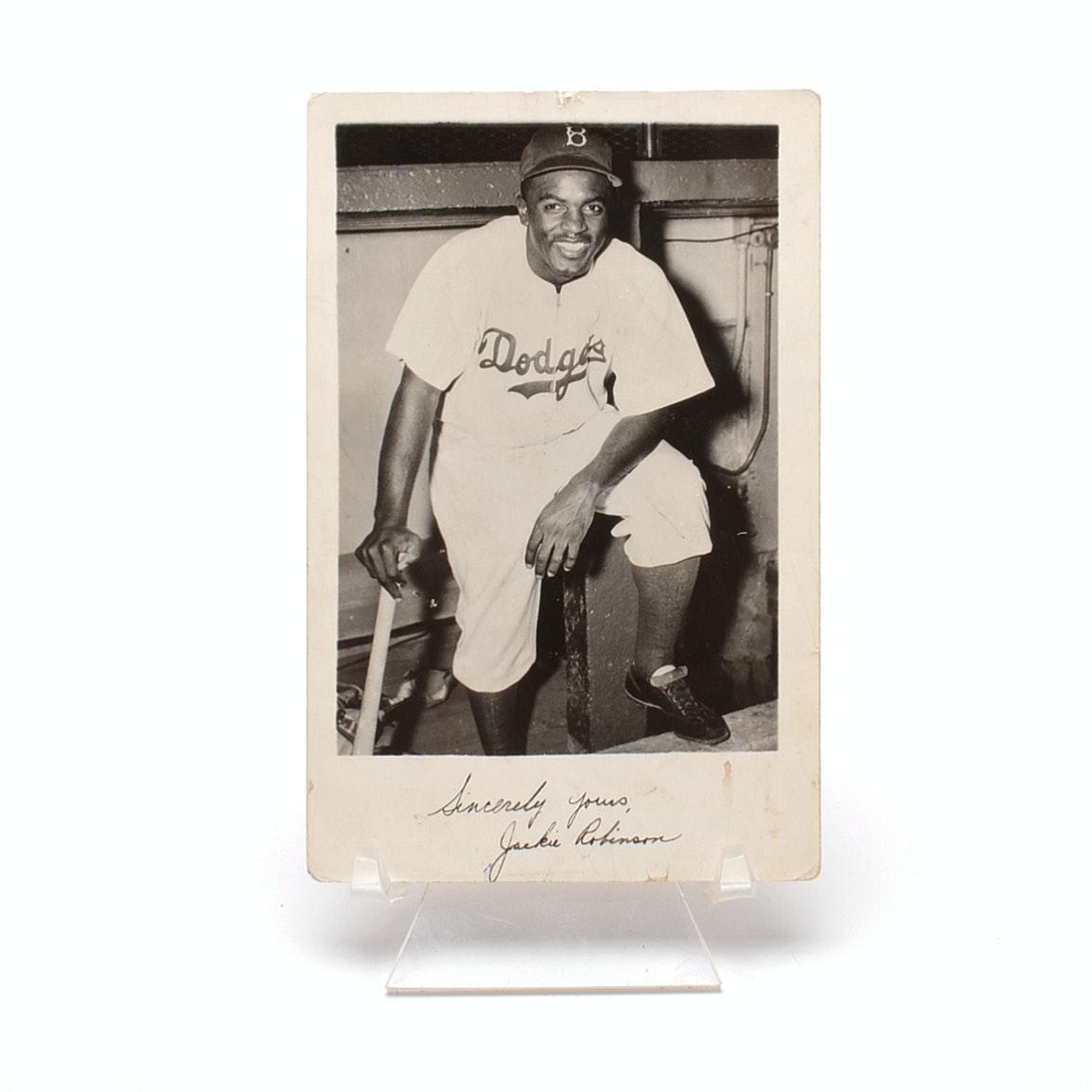Jackie Robinson Brooklyn Doders Postcard