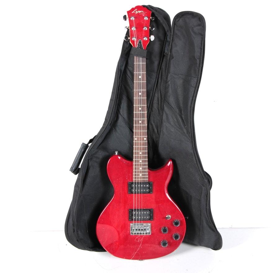 lyon washburn dual humbucker solid body electric guitar. Black Bedroom Furniture Sets. Home Design Ideas