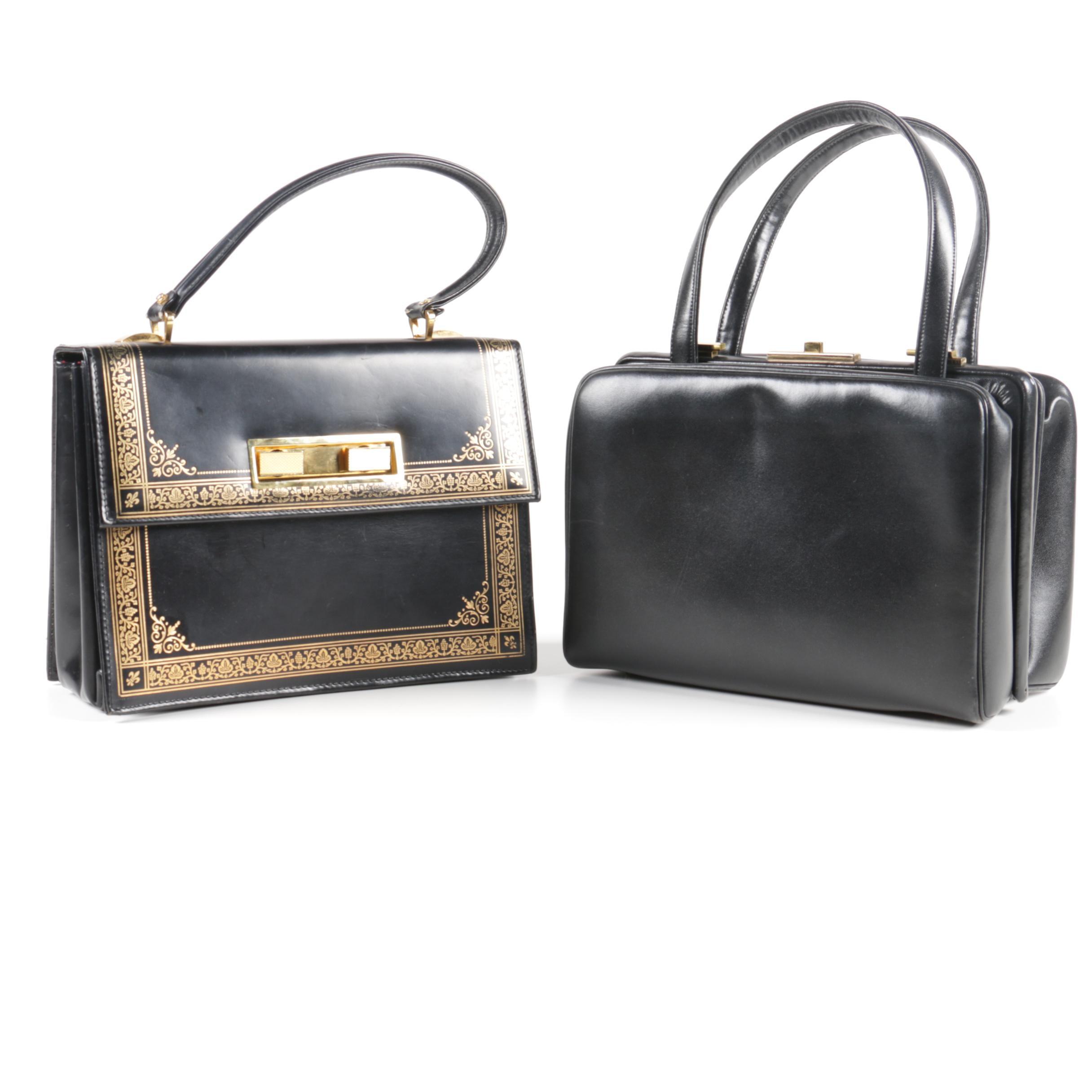 Vintage Black Leather Handbags