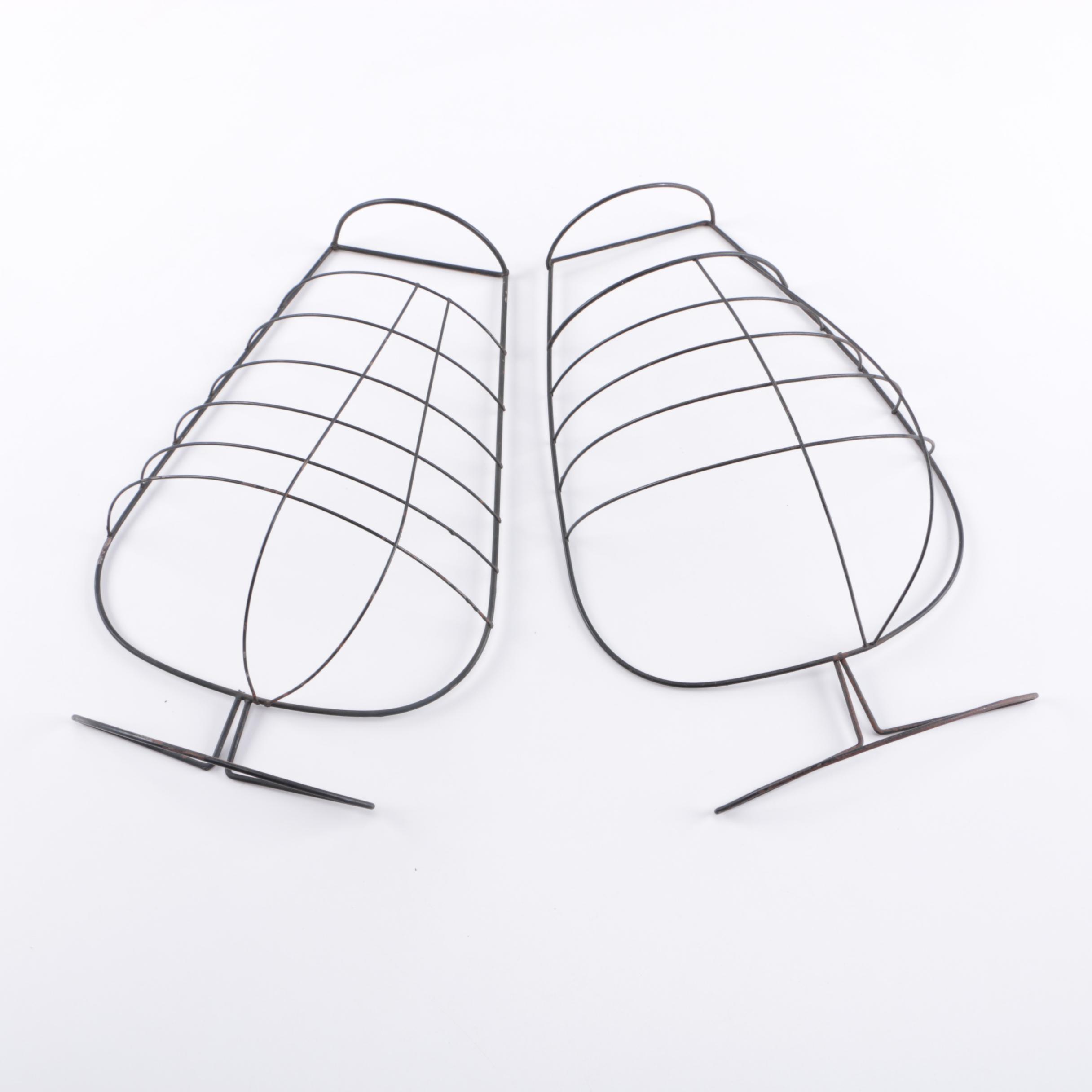 Fredrick Weinberg Wire Wine Glass Wall Hangings
