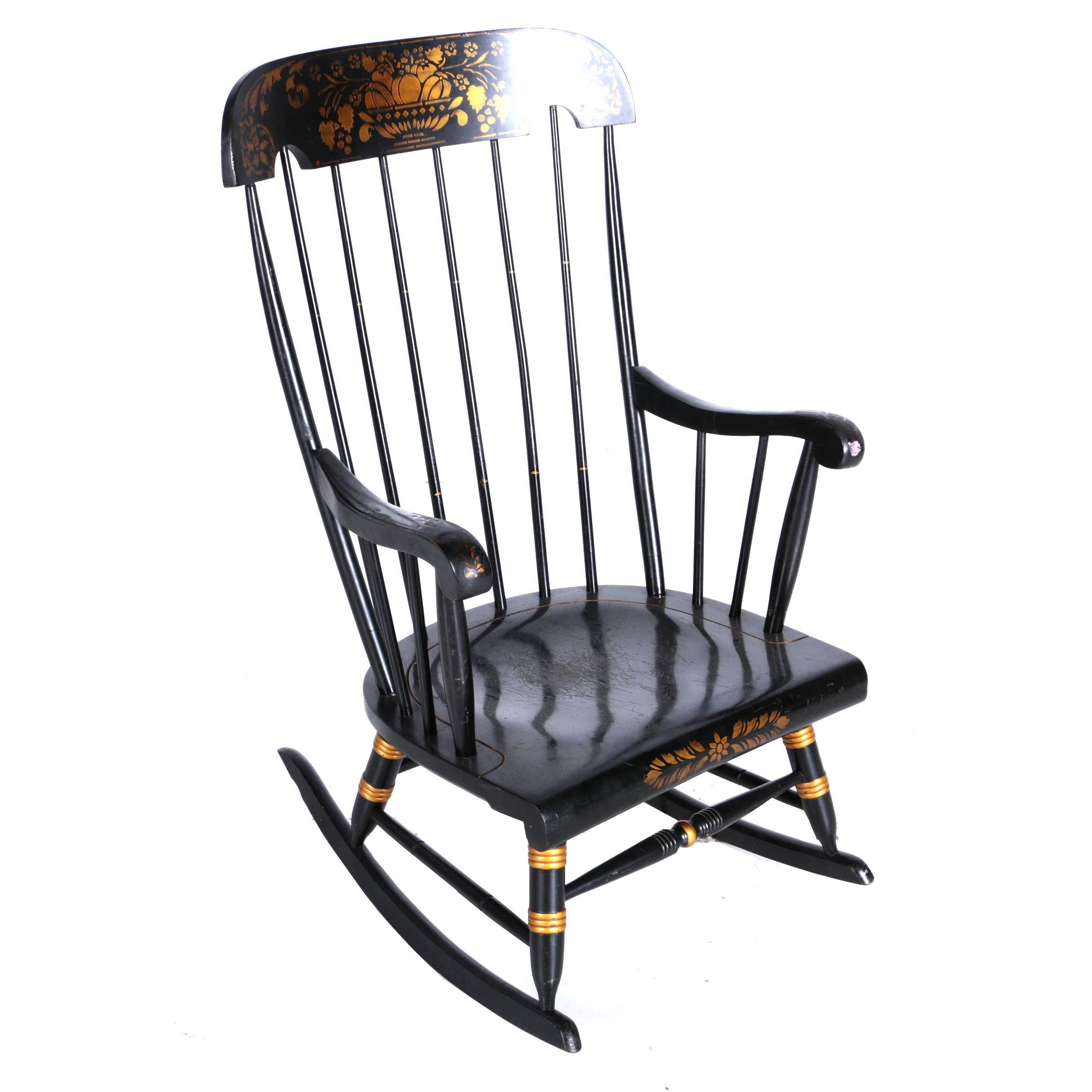 Vintage Black Rocking Chair