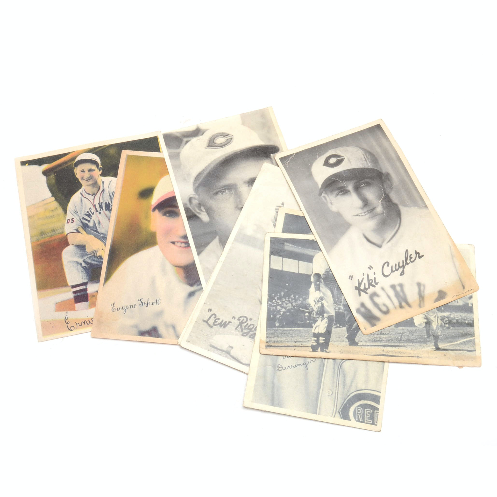 Eight 1930s Cincinnati Reds Goudey Photo Cards