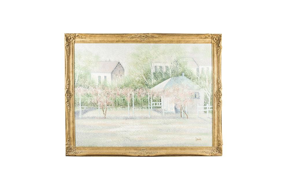 Latoúr Acrylic Painting of a Landscape