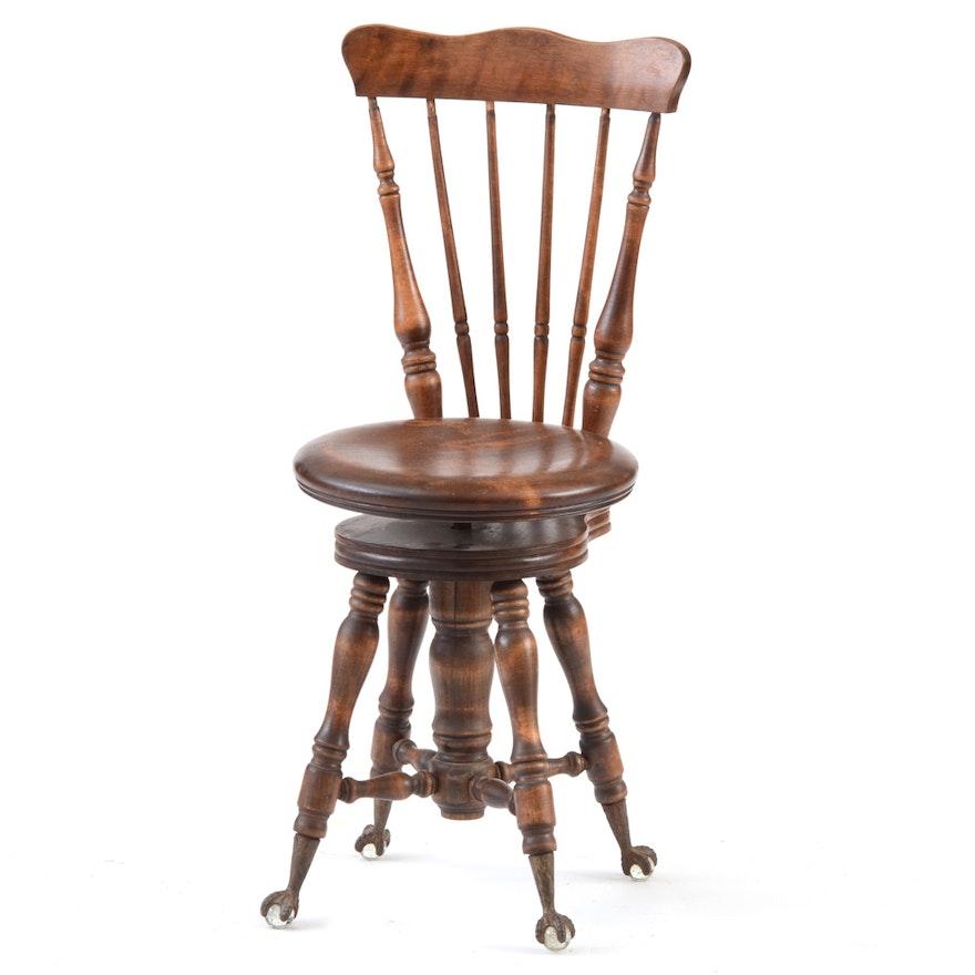 Victorian Piano Chair; 1x1 ... - Victorian Piano Chair : EBTH
