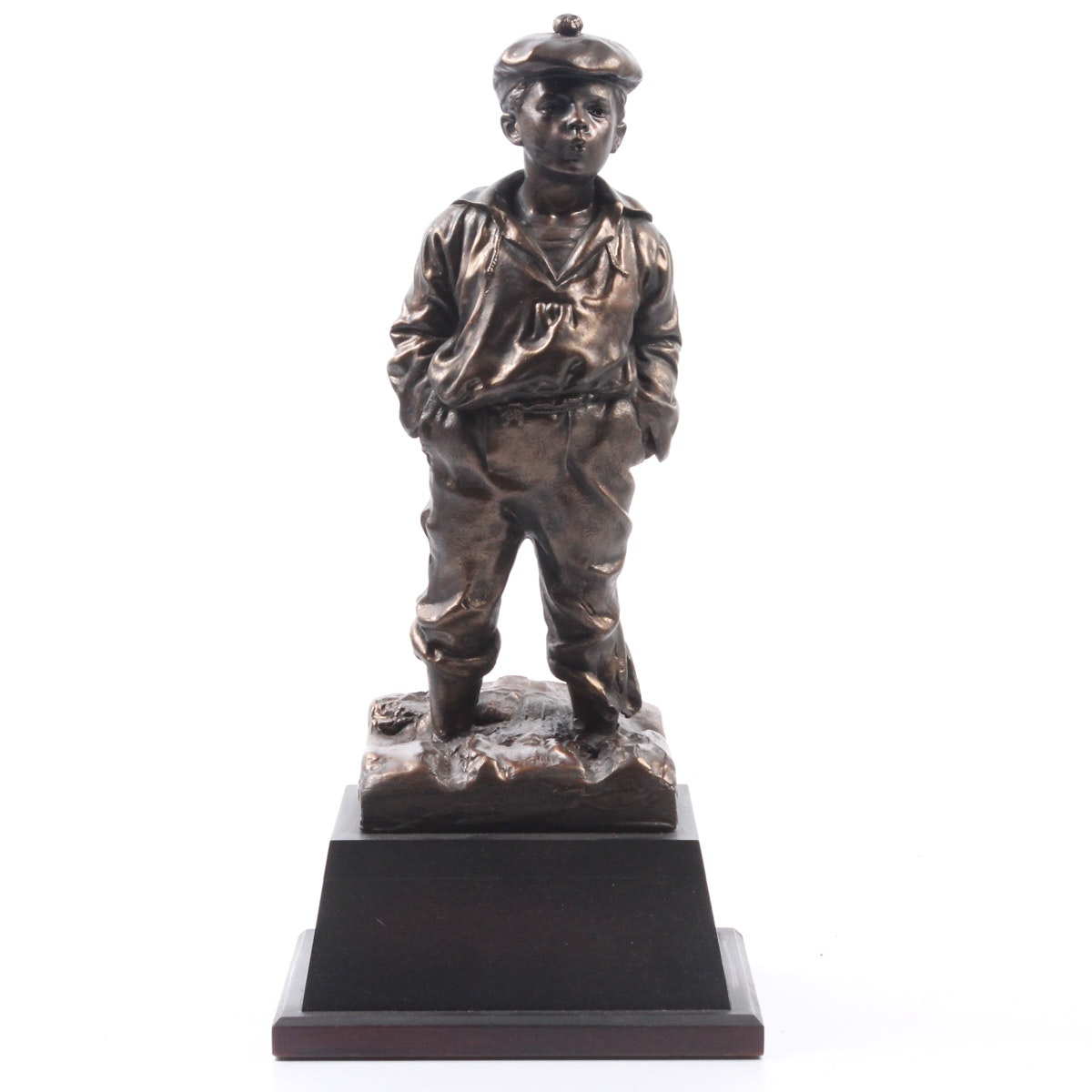Reproduction Whistling Boy Metal Statue