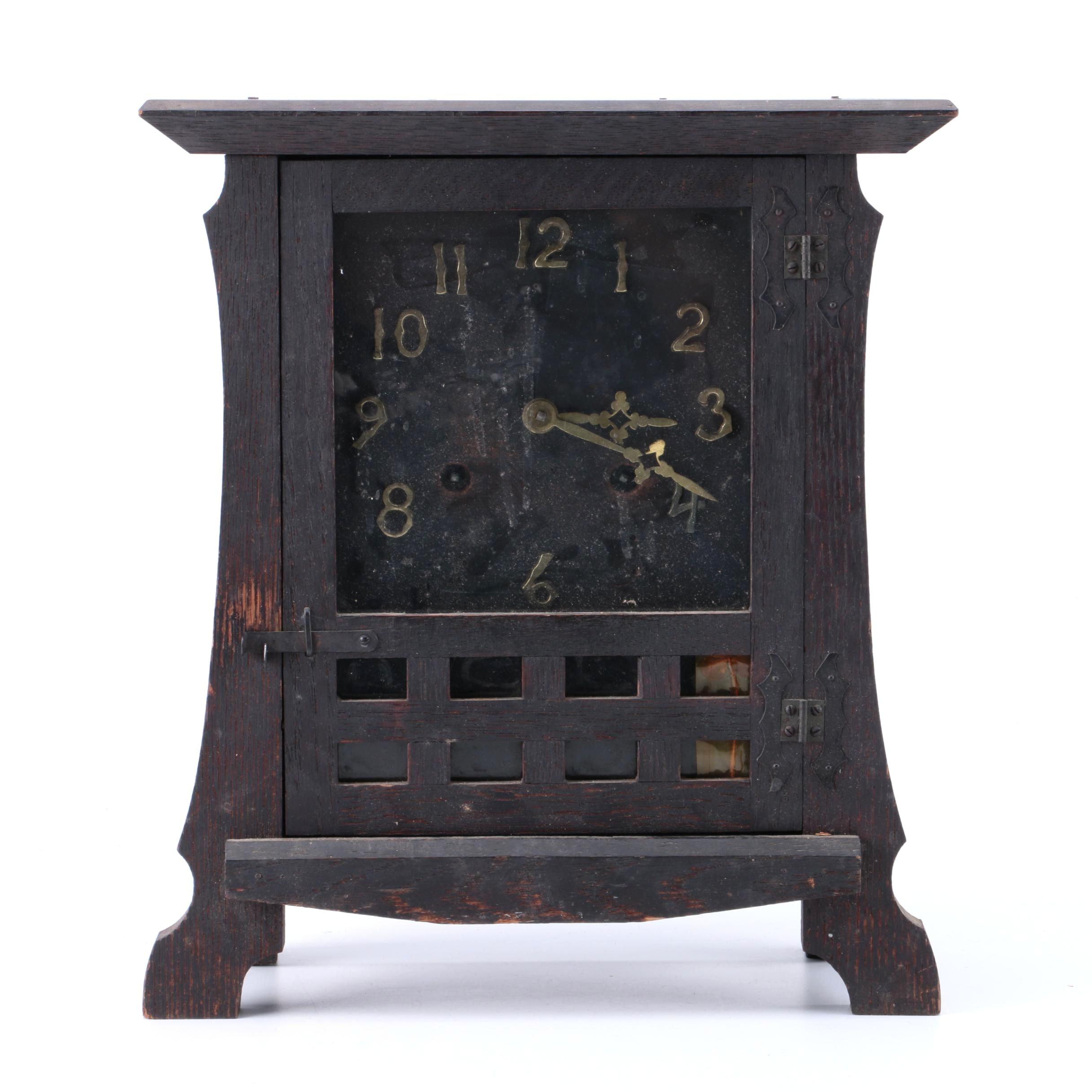New Haven Clock Co. Wooden Mantel Clock