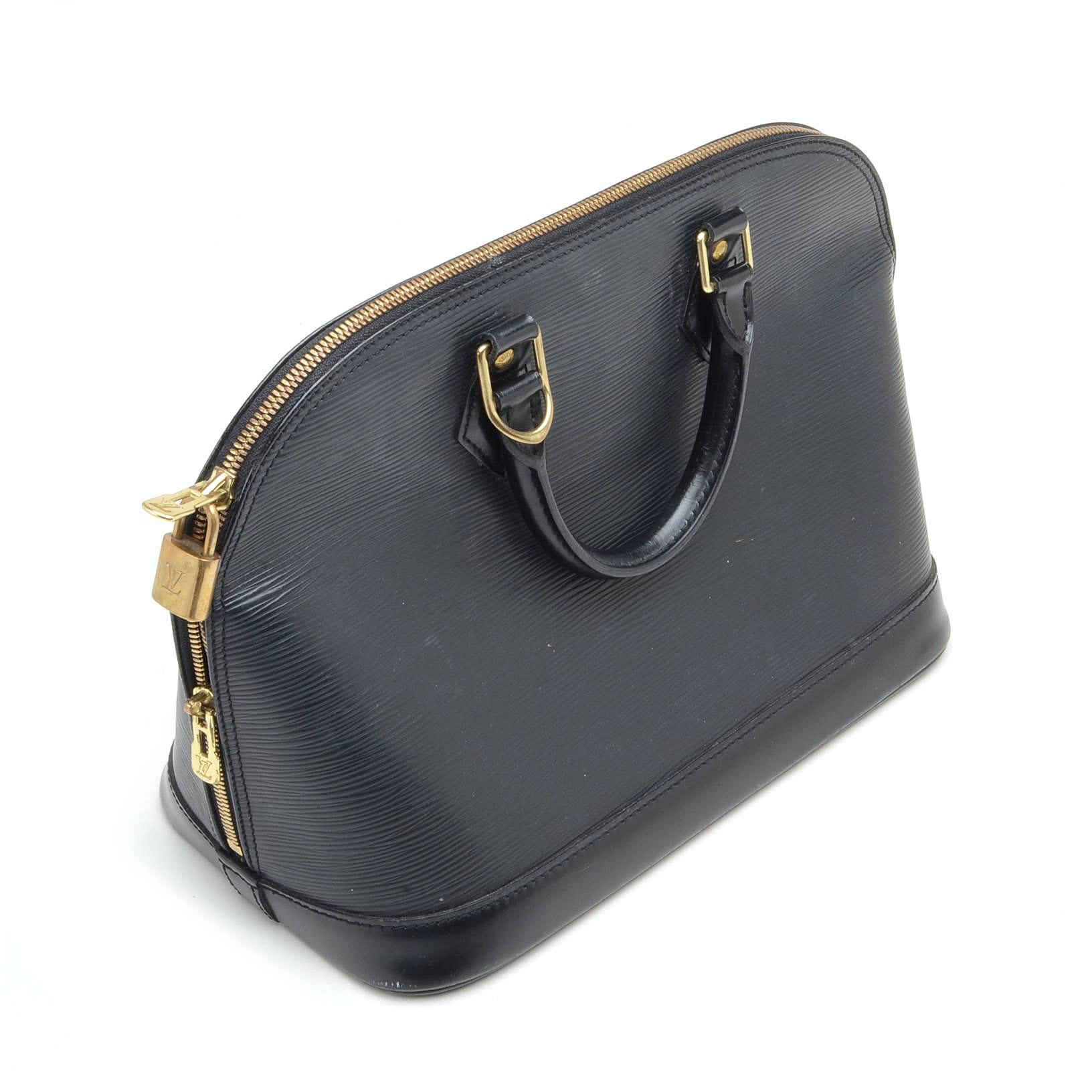 2001 Louis Vuitton Alma Black Epi Leather Handbag