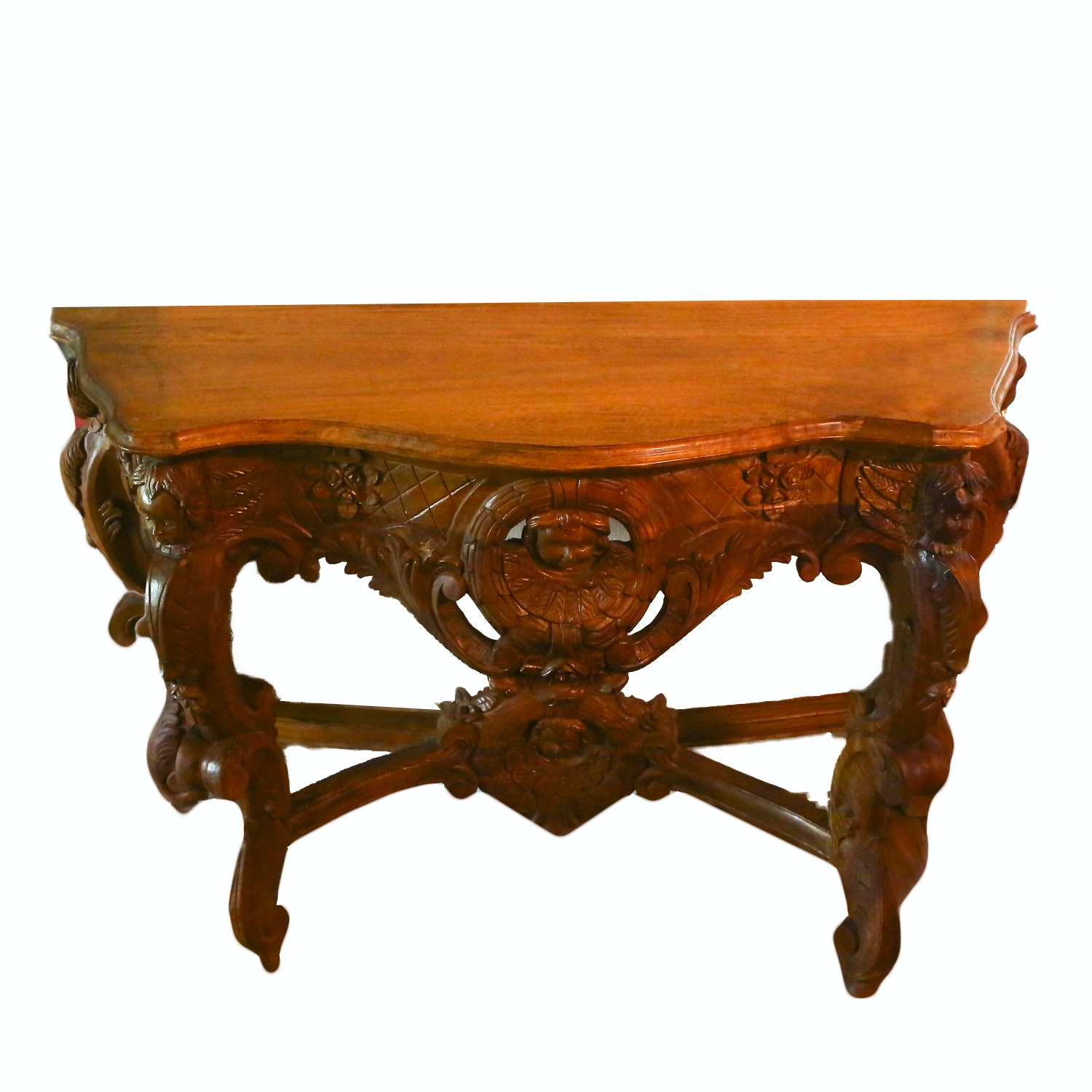 Louis XIV Style Carved Console Table