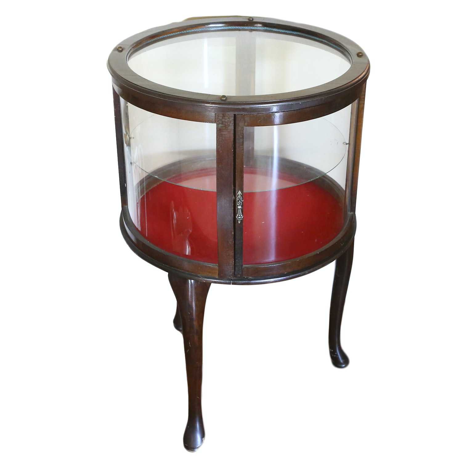 Queen Anne Style Curio Drum Table
