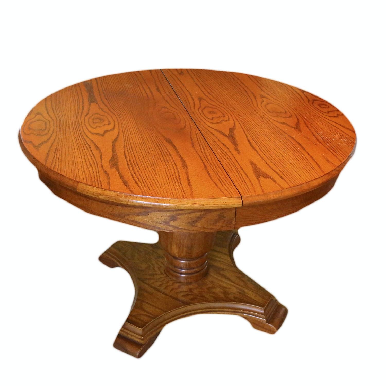 Oak Pedestal Dining Table